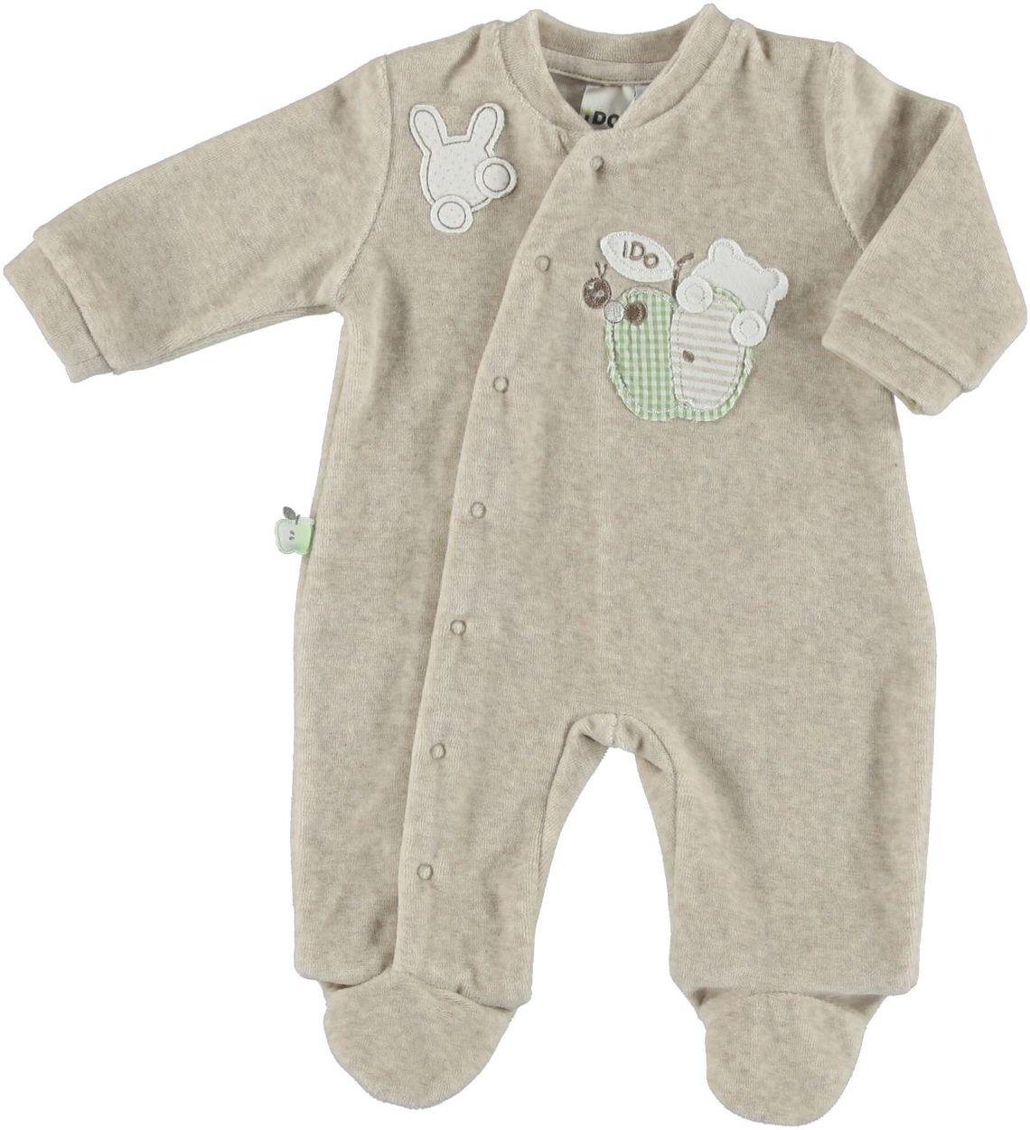 Tutina in ciniglia di cotone con piedino per bambino da 0 a 18 mesi ...