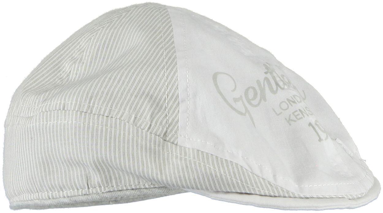 Coppola in tessuto navetta a righine per bambino da 0 a 18 mesi iDO.  BIANCO-GRIGIO-8011 back a1596c8b1902