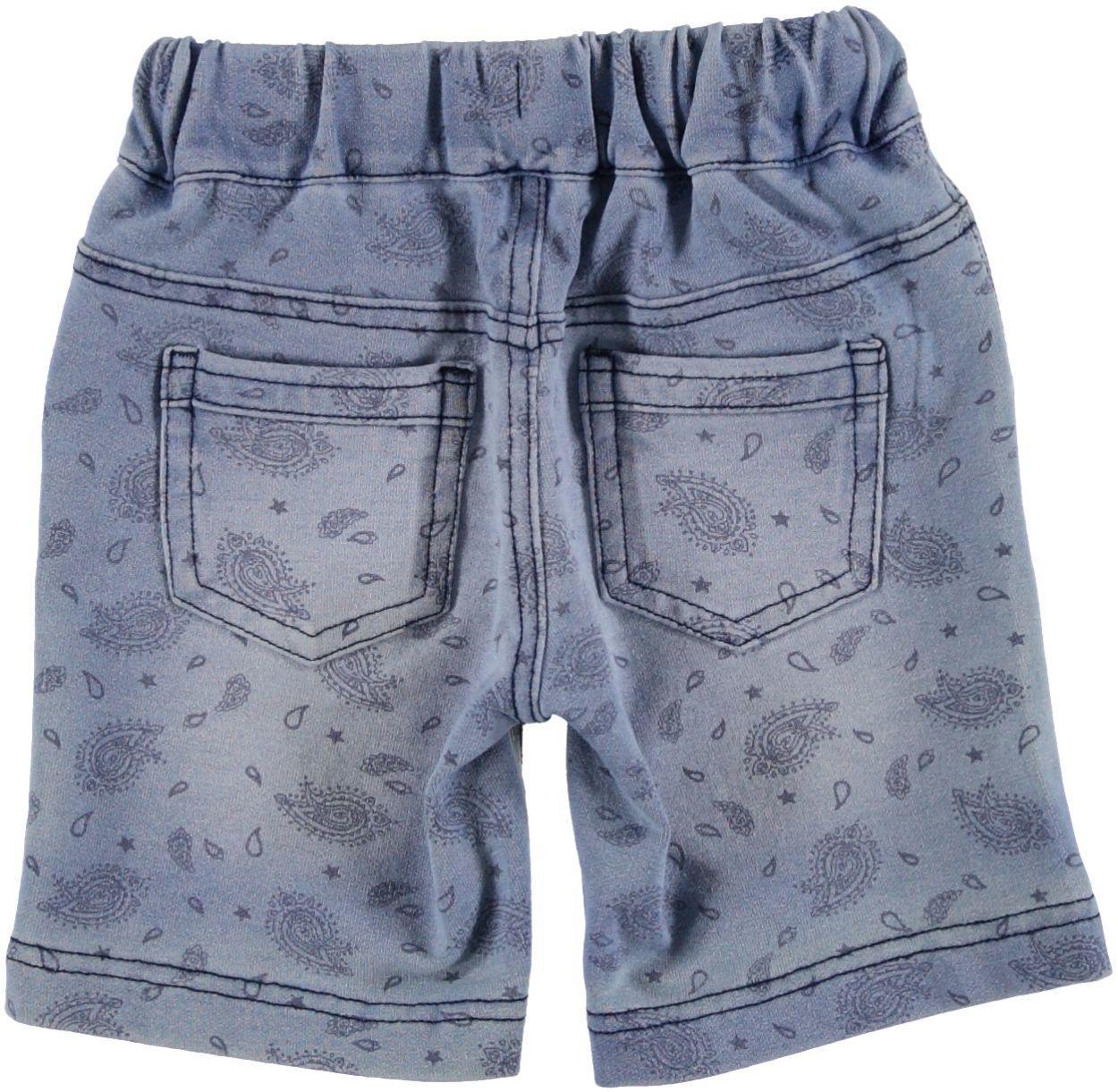 Pantaloncino corto con stampa fantasia cachemire per neonato da 0 a 18 mesi  iDO. DENIM-AVION-6F74 back. bb88cbb36065