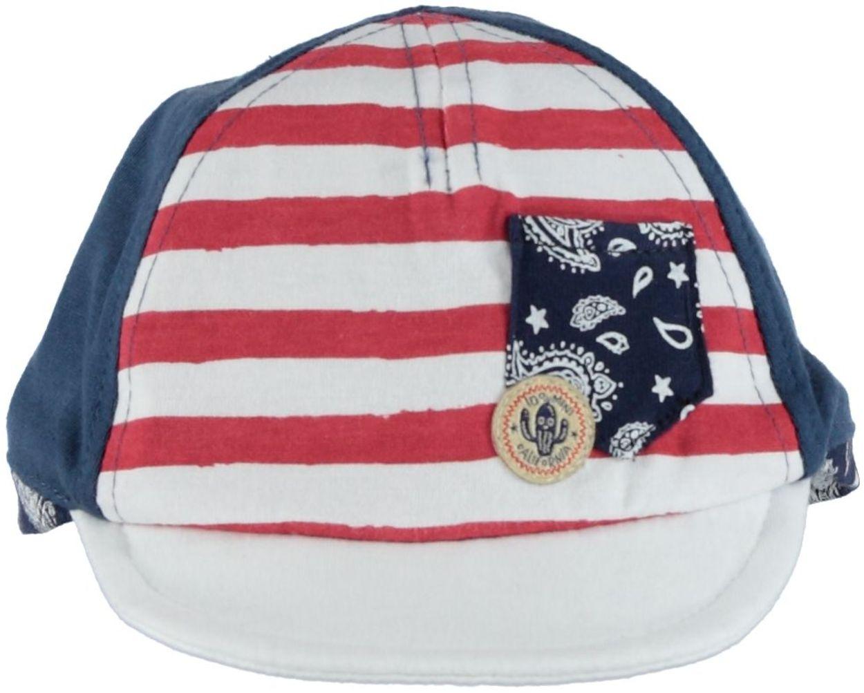 Cappello in jersey con stampa rigata per neonato da 0 a 18 mesi iDO.  BIANCO-BLU-8020 back fb3f8c4a2b71