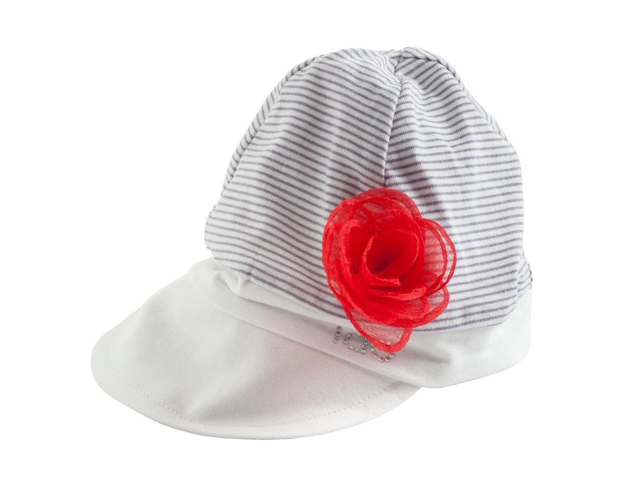 Cappellino 100% cotone con rosellina per neonata da 0 a 18 mesi iDO ... a0adf92113e5