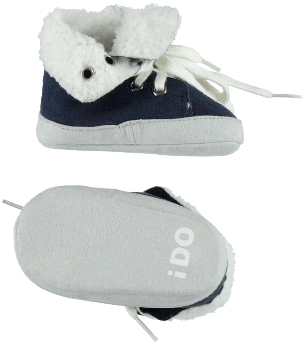 Scarpine modello sneakers in ecopelle scamosciata per neonato da 0 a 18  mesi iDO 88f6920f626