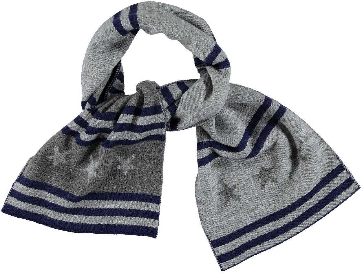 Sciarpa in tricot misto lana fantasia stelle per bambino da 3 a 16 anni  iDO. GRIGIO MELANGE SCURO-8994. b6520d0309a8