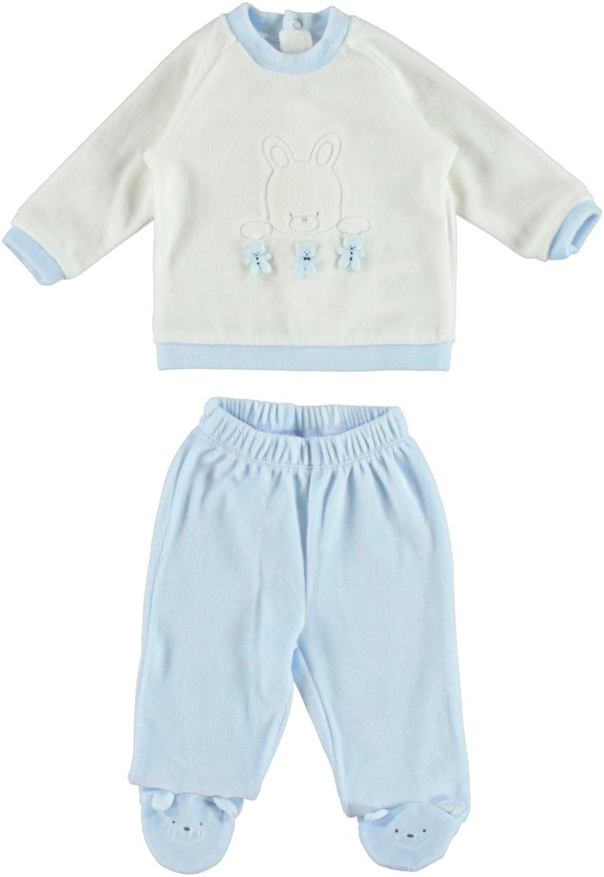 e6d17d1d26ed Morbidissima tutina neonato spezzata in morbida ciniglia vestibilità da 0 a  18 mesi iDO