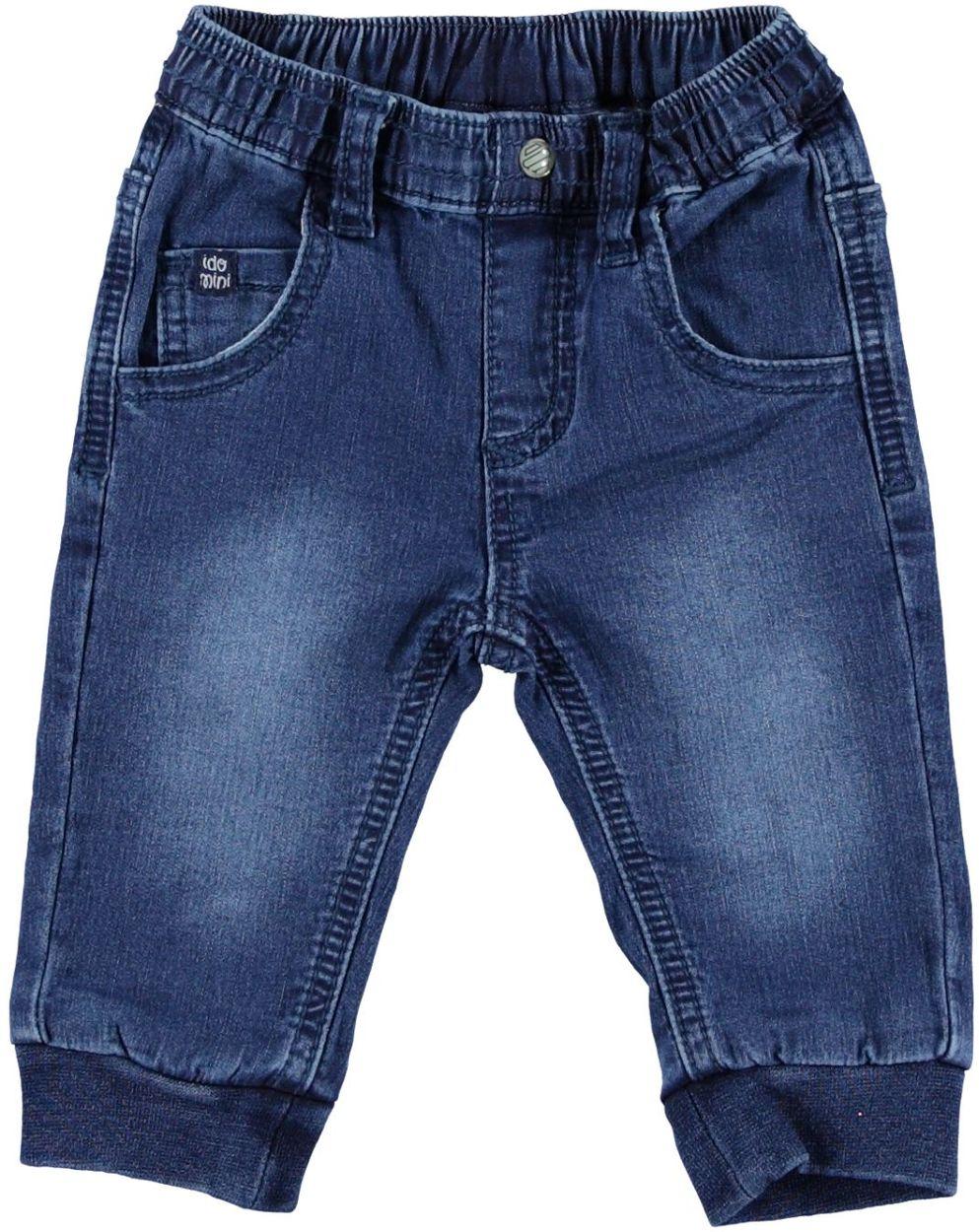 chic classico grandi affari sulla moda ampia selezione Pantalone neonato in felpa di cotone effetto denim vestibilità da 0 a 18  mesi iDO