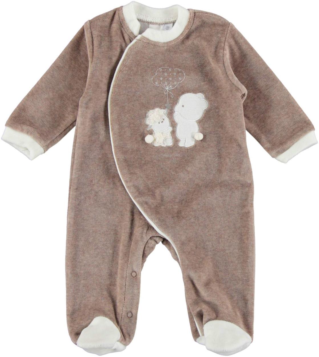 nuovo stile di vita nuovo stile di ottima vestibilità Tutina intera neonato unisex in ciniglia vestibilità da 0 a 18 mesi iDO