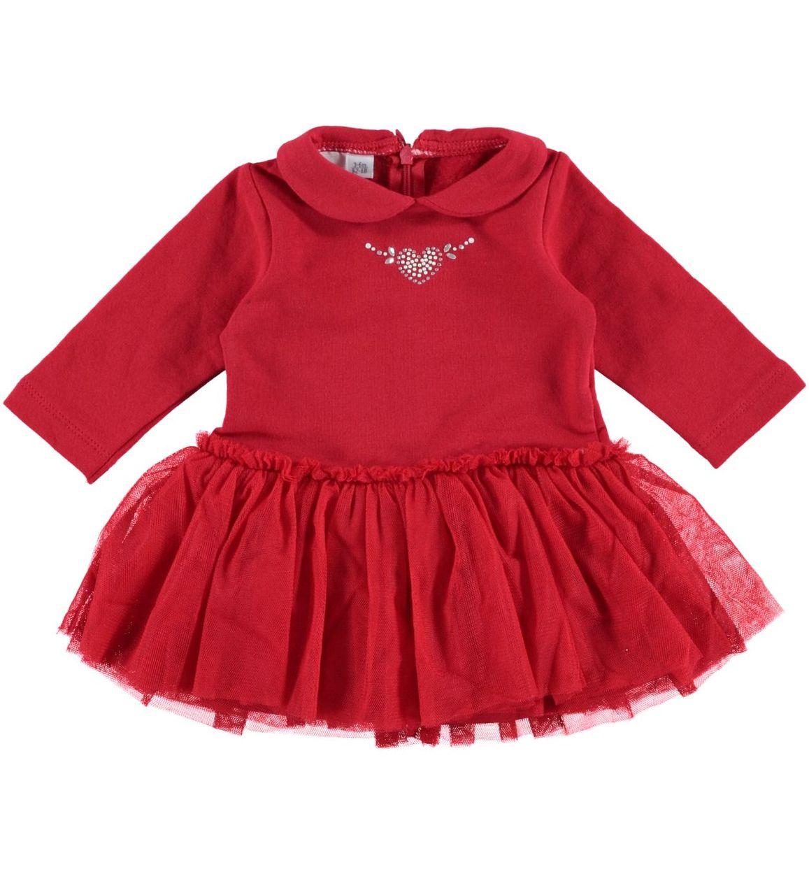 selezione speciale di vasta gamma di ottima qualità Vestitino con gonna in tulle per neonata da 0 a 18 mesi iDO