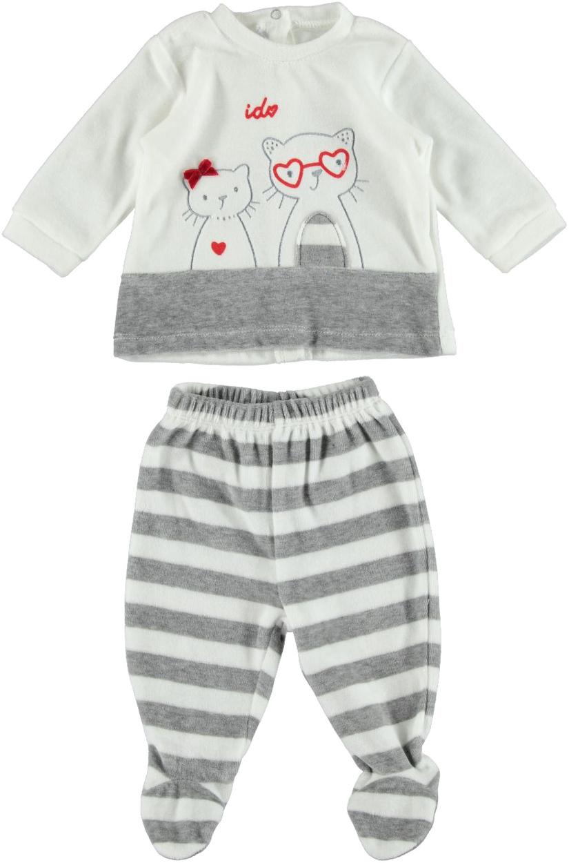colore veloce acquista autentico comprare a buon mercato Tutina neonata in ciniglia modello spezzato vestibilità da 0 a 18 mesi iDO
