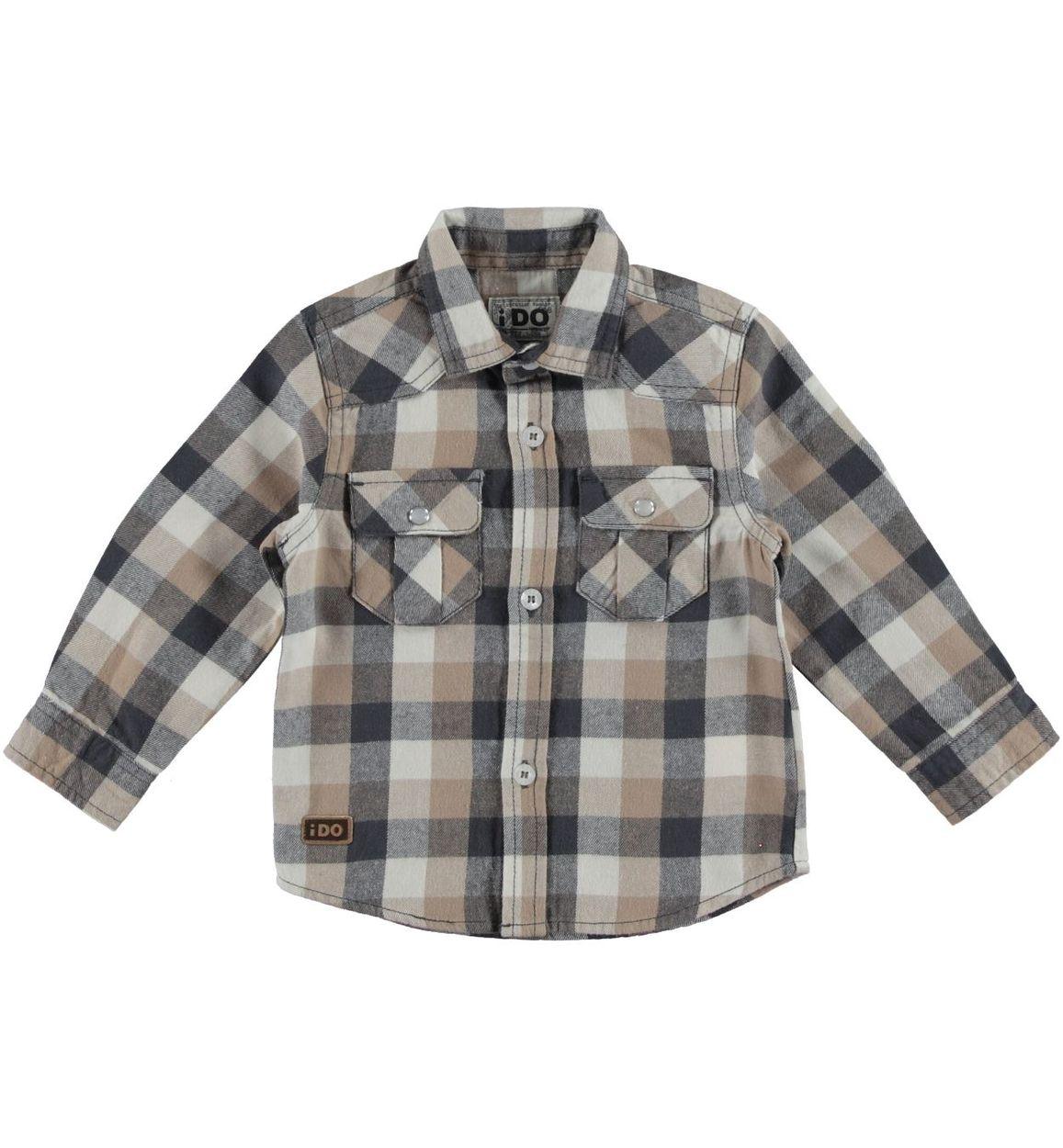 pretty nice 0dc28 aacb0 Camicia a quadri in flanella 100% cotone per bambino da 6 a 36 mesi iDO