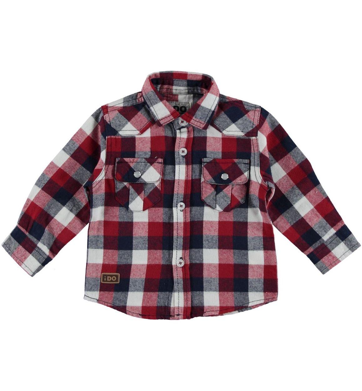 pretty nice bbb8a 34563 Camicia a quadri in flanella 100% cotone per bambino da 6 a 36 mesi iDO