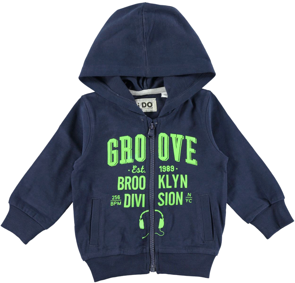 Felpa bambino 100% cotone pesante con cappuccio vestibilità da 6 a 36 mesi iDO