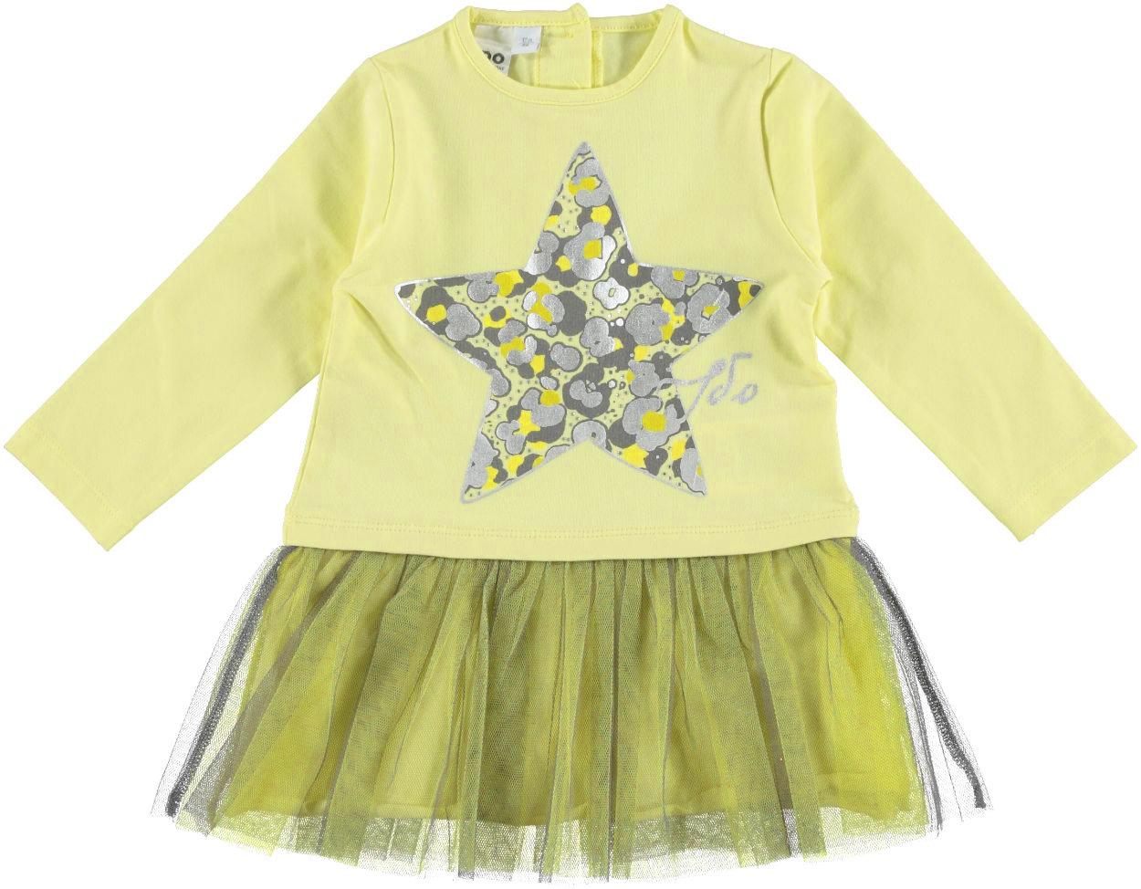 Vestitino bambina in cotone stretch con stella camouflage vestibilità da 6  a 36 mesi iDO 69383a3dba0