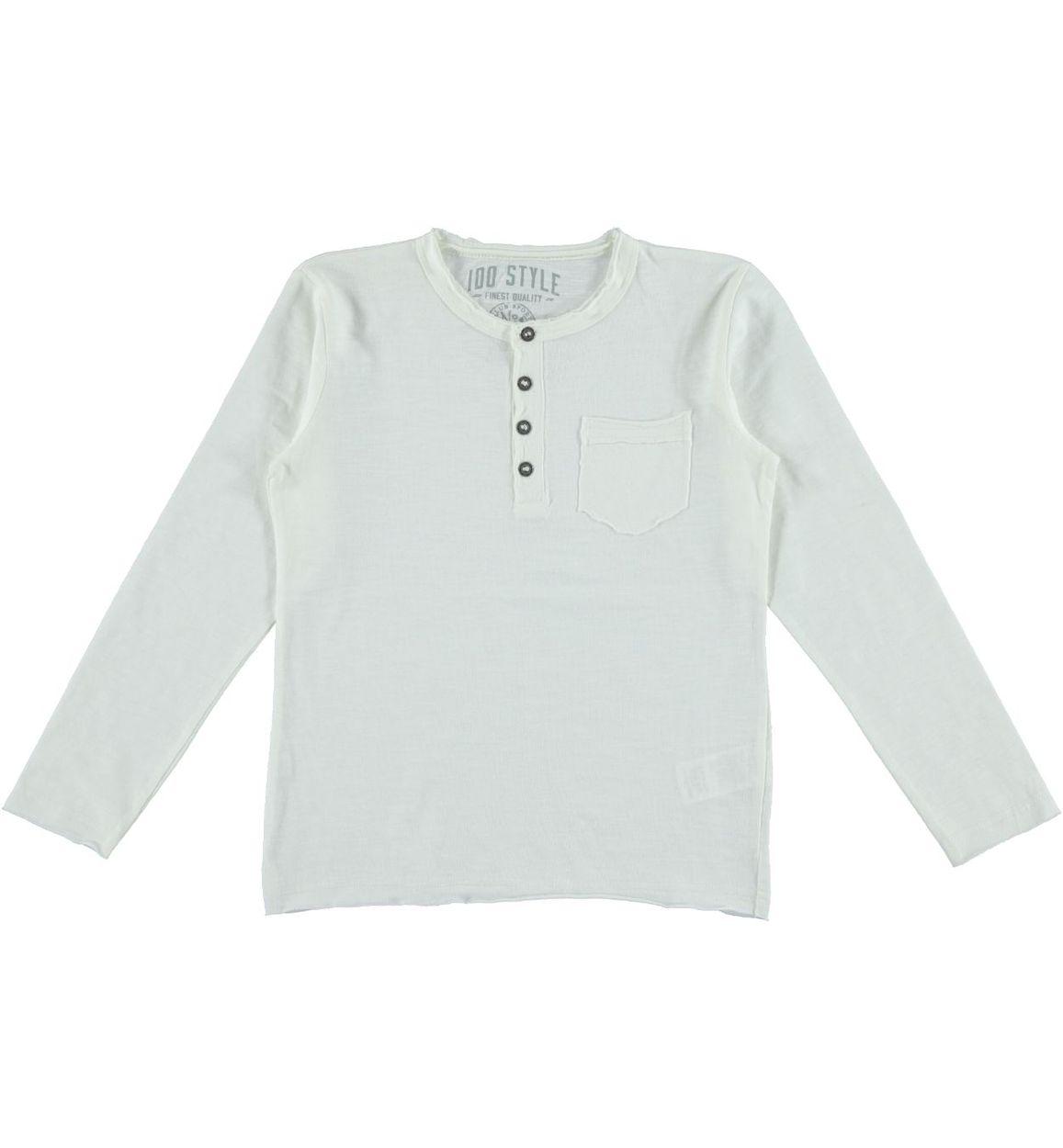 outlet store cf480 70270 Maglietta serafino in jersey fiammato 100% con taschino a toppa per bambino  da 3 a 16 anni iDO