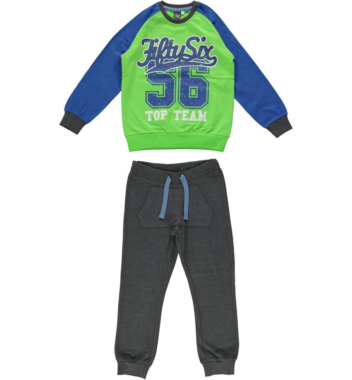 0e91933ad08069 Tuta bambini spezzata in jersey pesante di cotone vestibilità da 3 a 16 anni  iDO