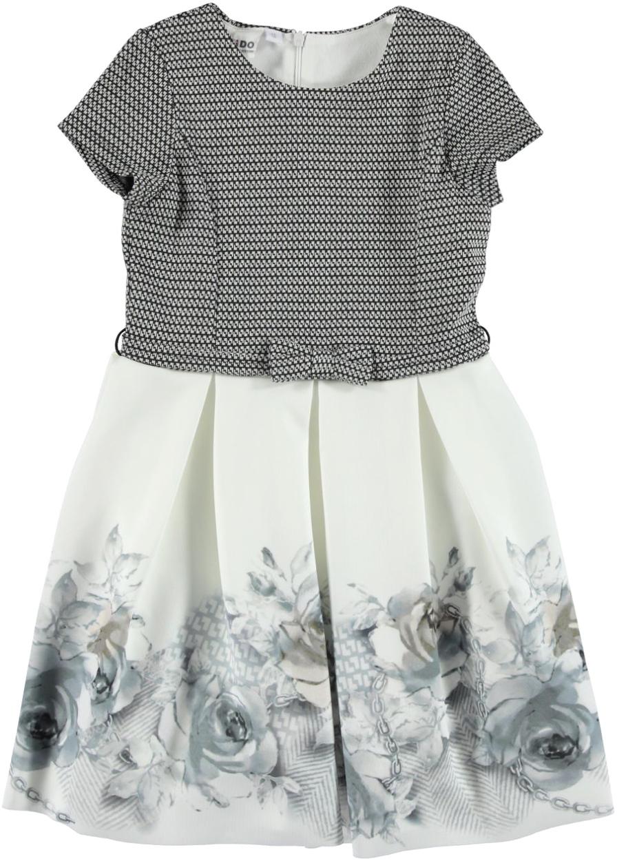 914f8425a5e1 Elegante abito con gonna a fiori per bambina da 3 a 16 anni iDO ...