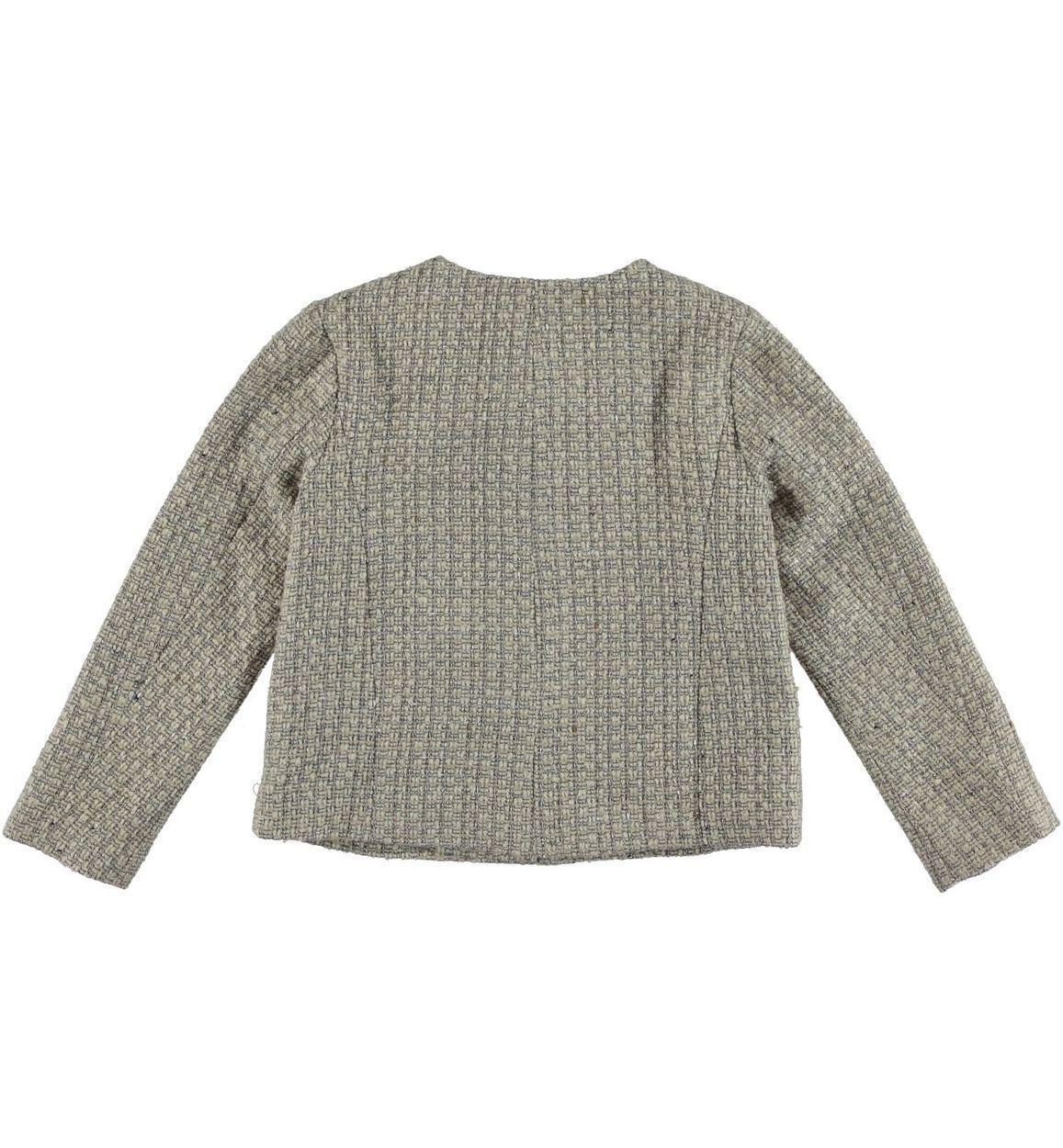 hot sale online dc5d5 4a2ea Giacchina corta per bambina in panno misto lana vestibilità da 3 a 16 anni  iDO