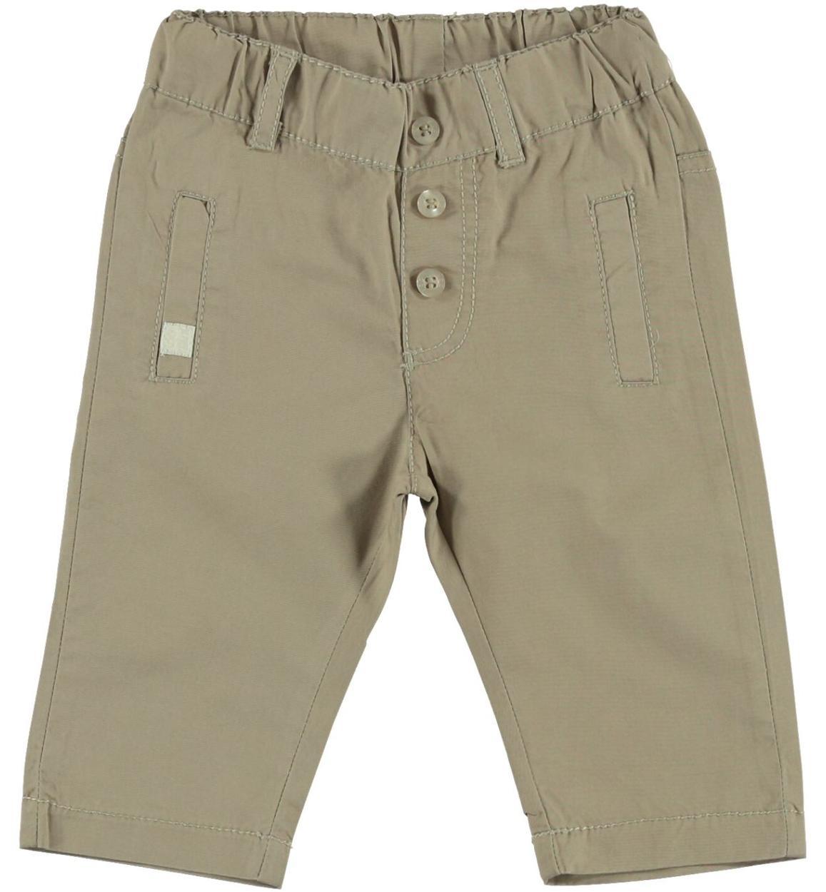 a6b4f69da595 Pantalone lungo 100% cotone tinta unita per neonato da 0 a 18 mesi iDO