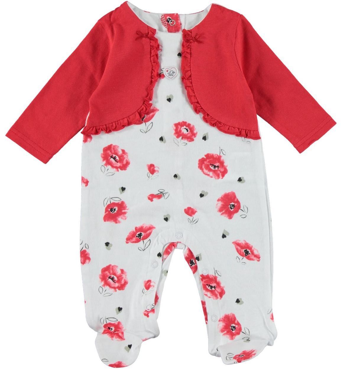 ultimo di vendita caldo sconto più votato seleziona per il più recente Tutina in cotone con finto coprispalle per neonata da 0 a 18 mesi iDO