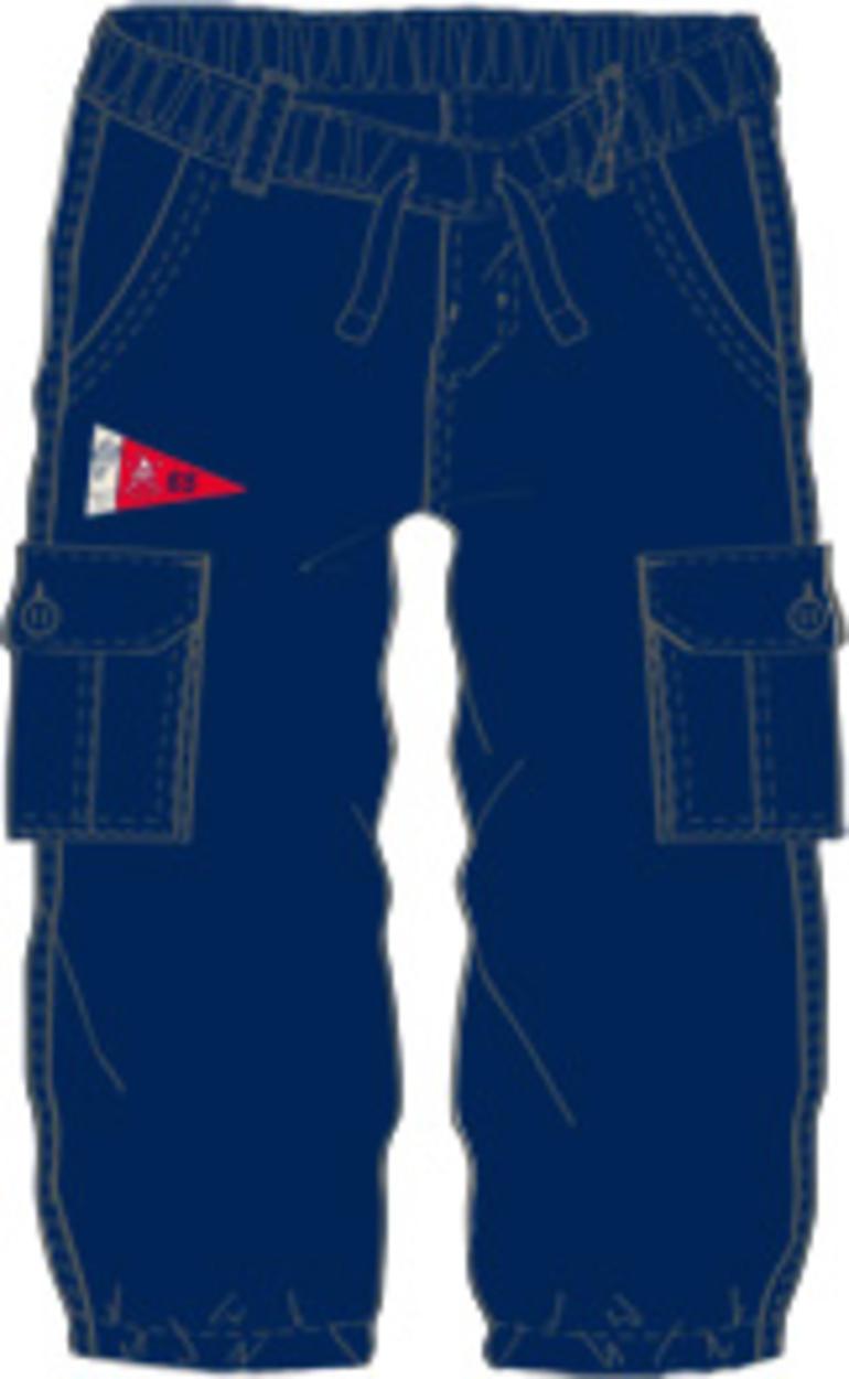 04f98588be6d Pantalone lungo in tessuto navetta 100% cotone per bambino da 6 a 36 mesi  iDO