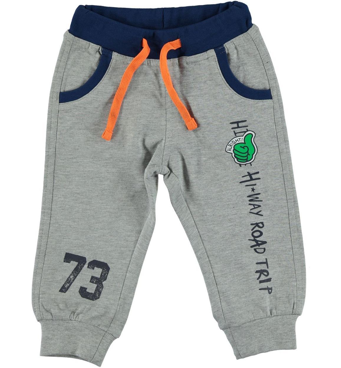1c1b90f9020e Pantalone sportivo in felpa leggera di cotone per bambino da 6 a 36 mesi iDO