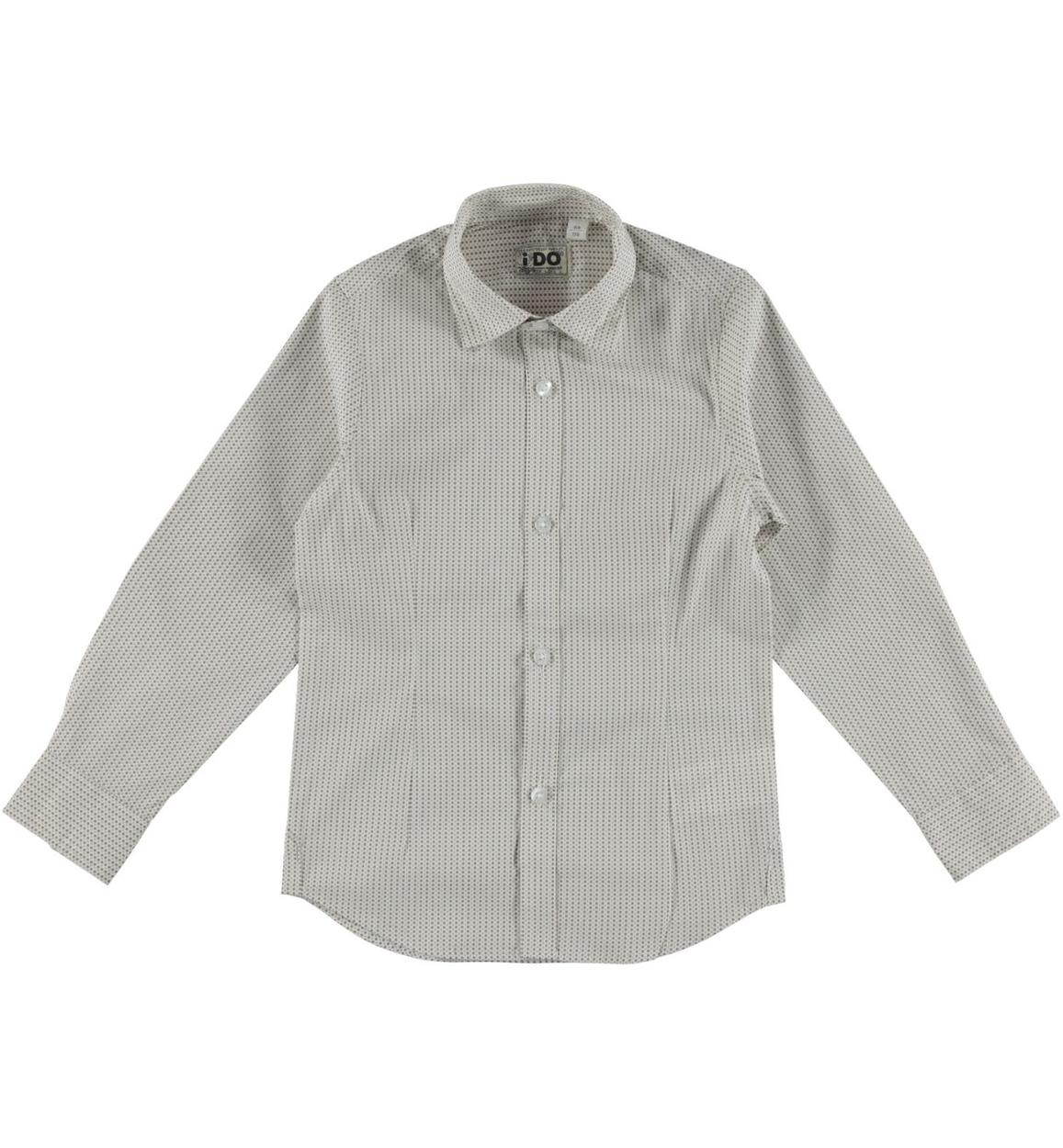 Camicia a manica lunga in cotone per bambino da 3 a 16 anni iDO ... 65c40038cfbc