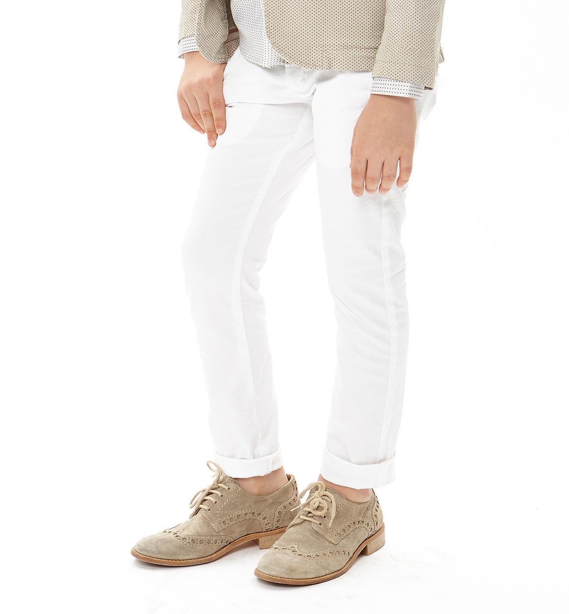Pantalone modello chinos in cotone elasticizzato per bambino da 3 a 16 anni  iDO 2502d2d35c87
