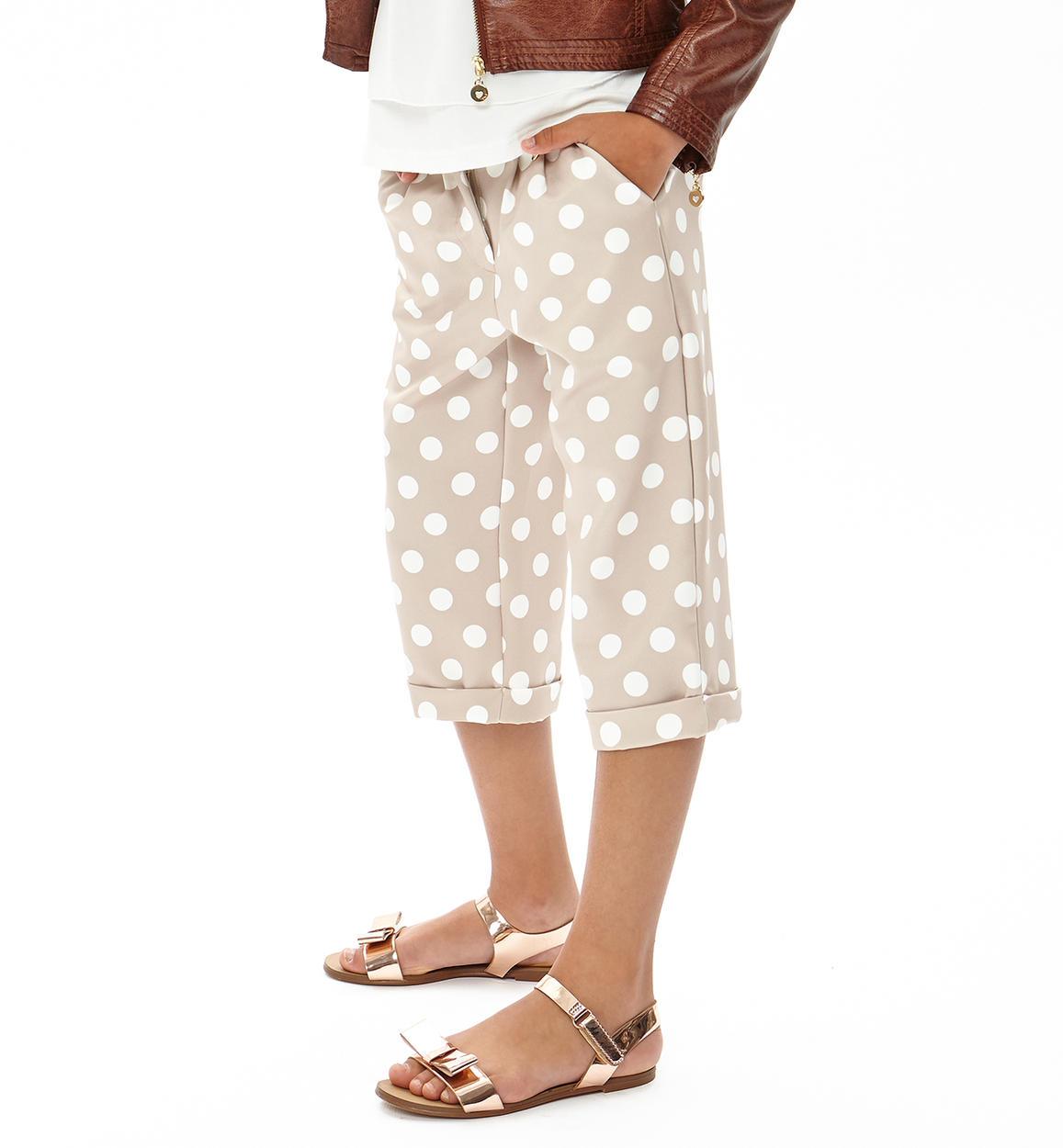 nuovo concetto 1d445 4d8b9 Pantalone modello giorgione con stampa a pois per bambina da 3 a 16 anni iDO