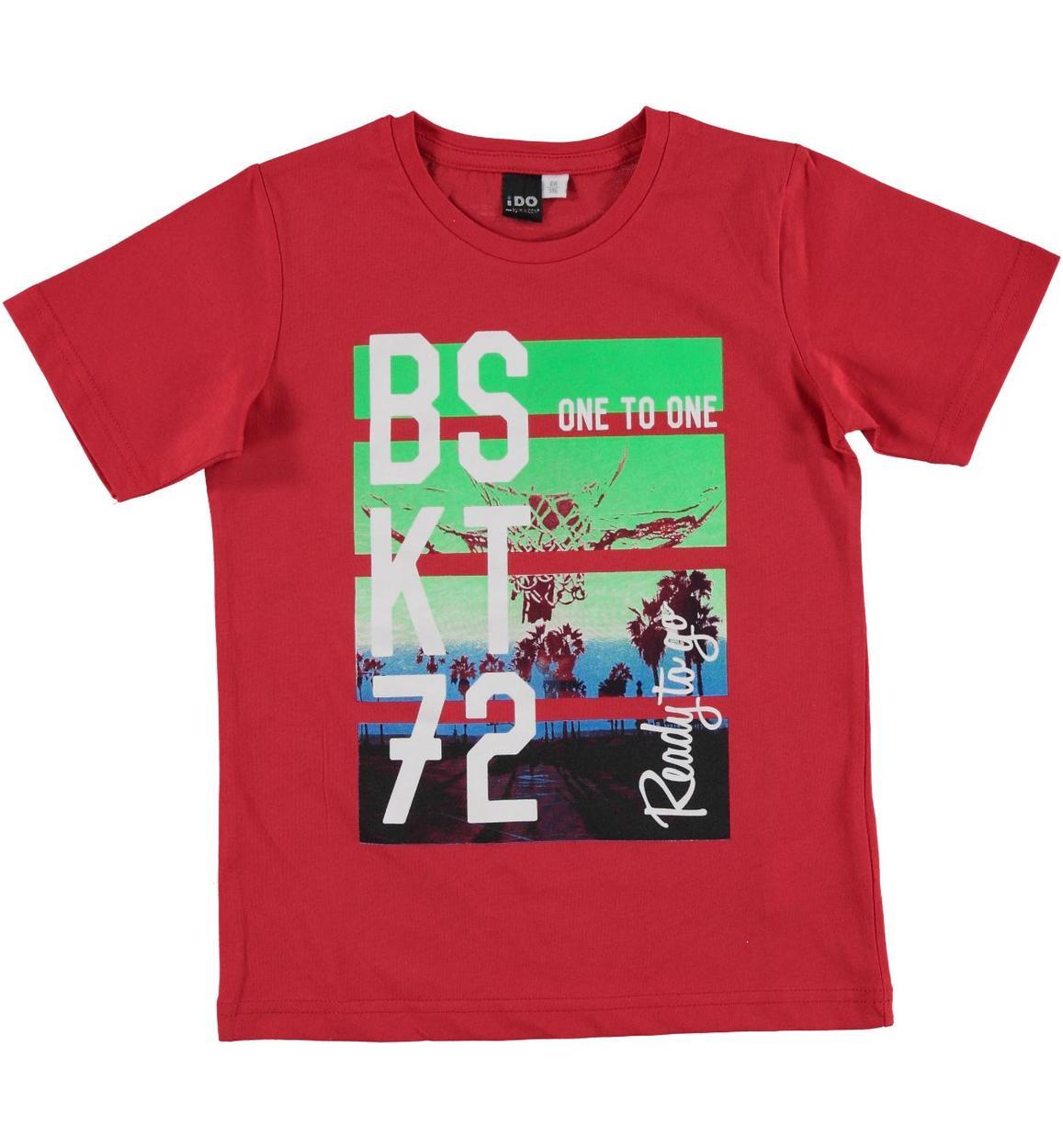 T-shirt 100% cotone ispirata al mondo del basket per bambino da 3 a 16 anni  iDO 88b7eaaaaf05
