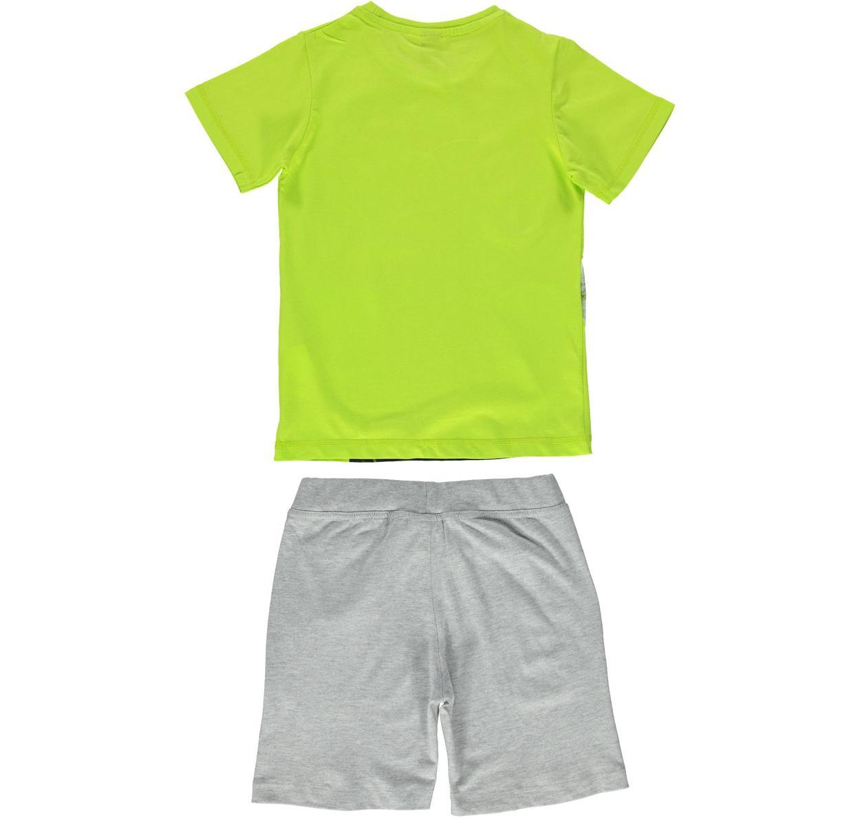 Completo 100% cotone con t-shirt stampa basket per bambino da 3 a 16 anni  iDO. VERDE-NERO-8376 back. BIANCO-NERO-8057. VERDE-NERO-8376. VERDE-GRIGIO-  ... 952cbd684664