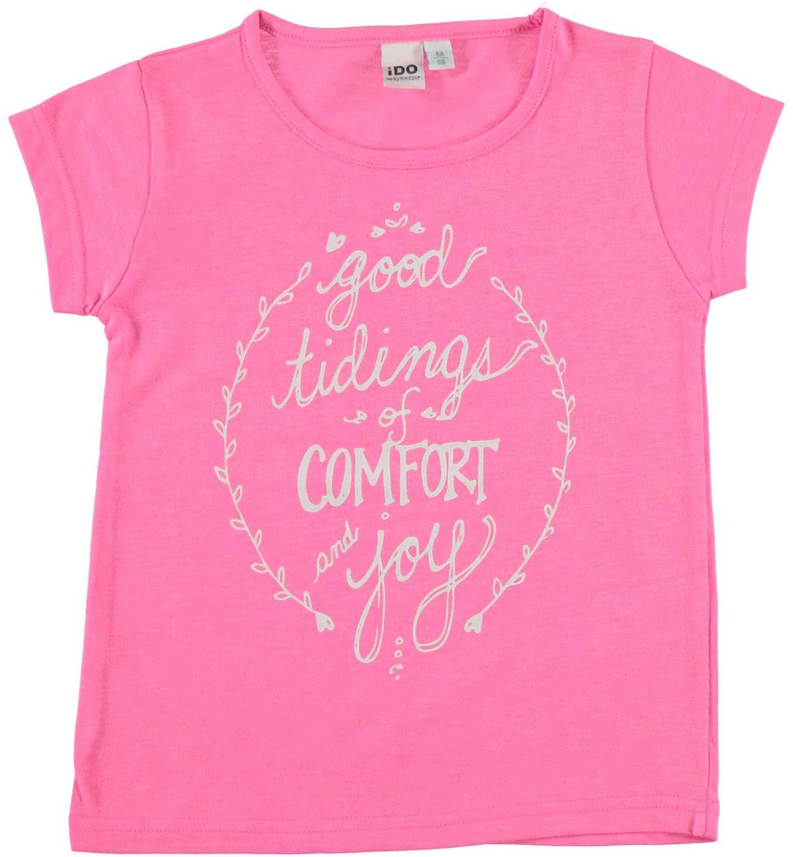 quality design 807a1 ed9e4 T-shirt in misto cotone con scritta glitter per bambina da 3 a 16 anni iDO