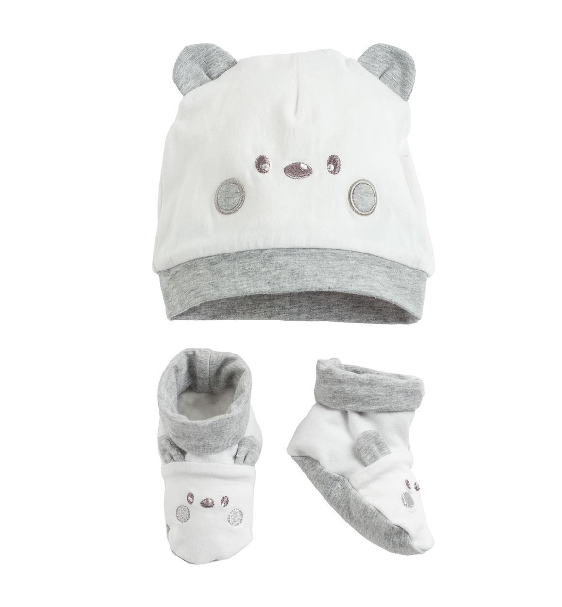 Cappellino e scarpine in cotone per neonati da 0 a 18 mesi iDO