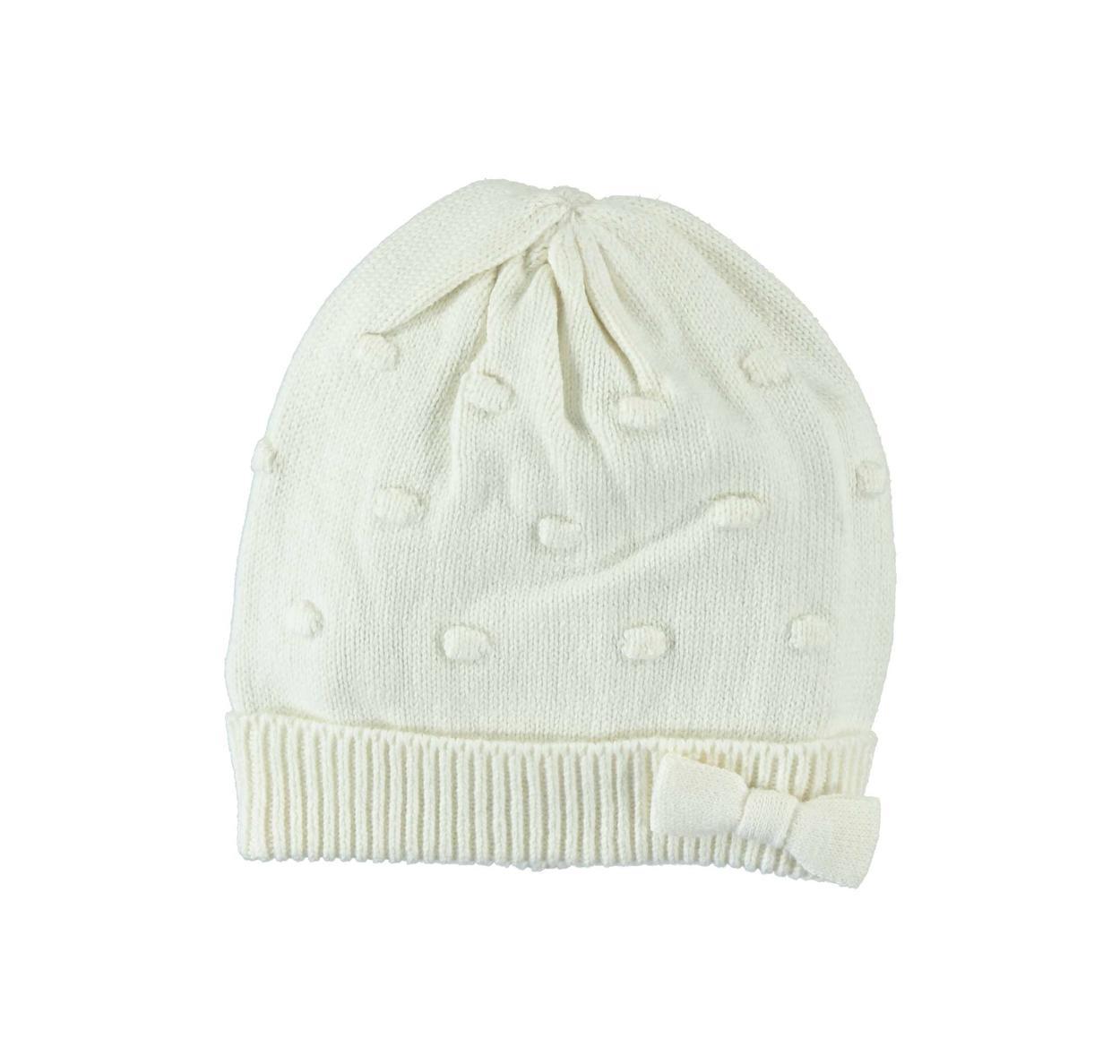 Cappellino in tricot misto cotone e lana per bambina da 0 a 18 mesi ... 6fae633225b9