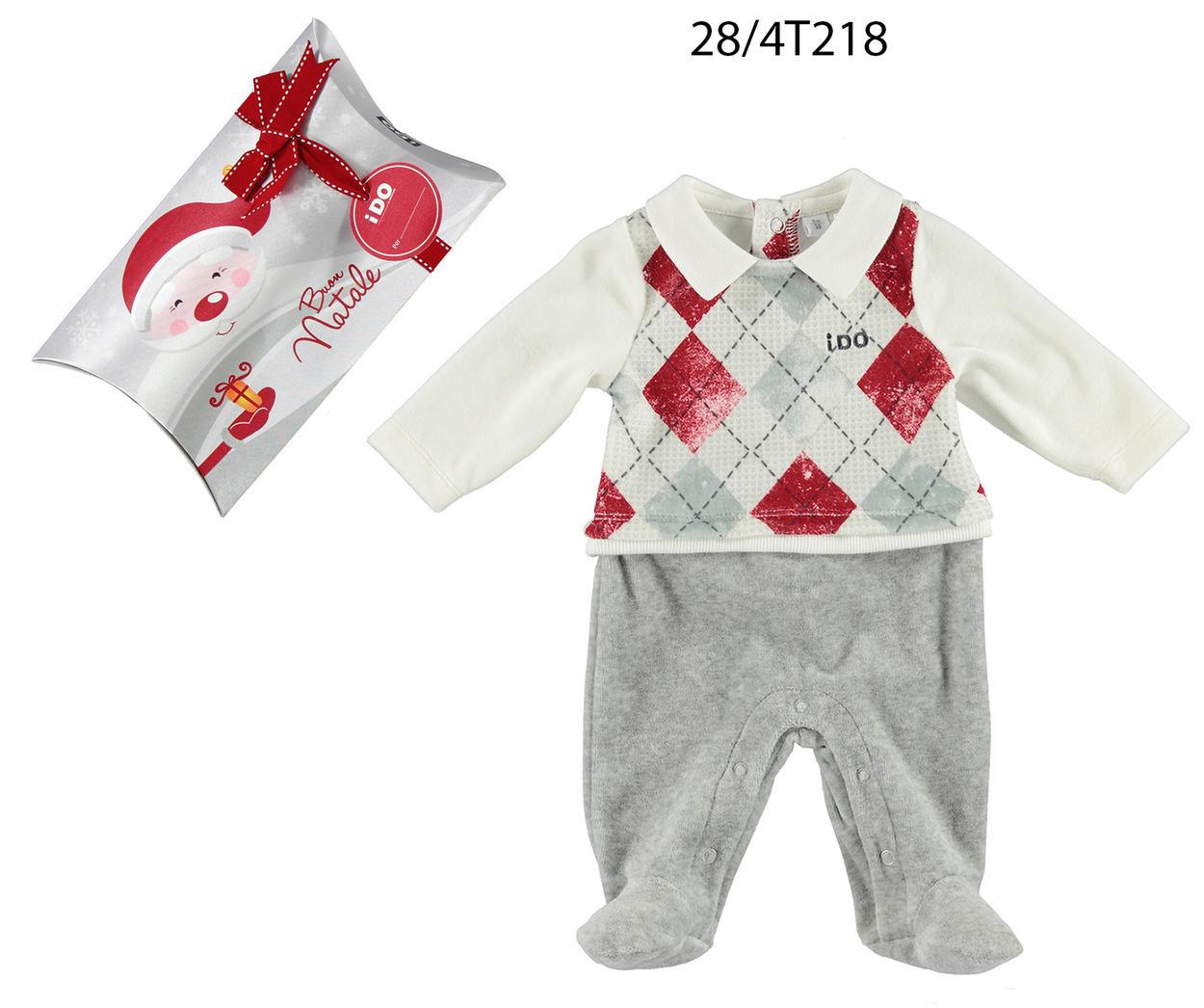 stile classico vendita calda reale Scoprire Tutina Natale in ciniglia con finto gilet per neonato da 0 a 18 mesi iDO