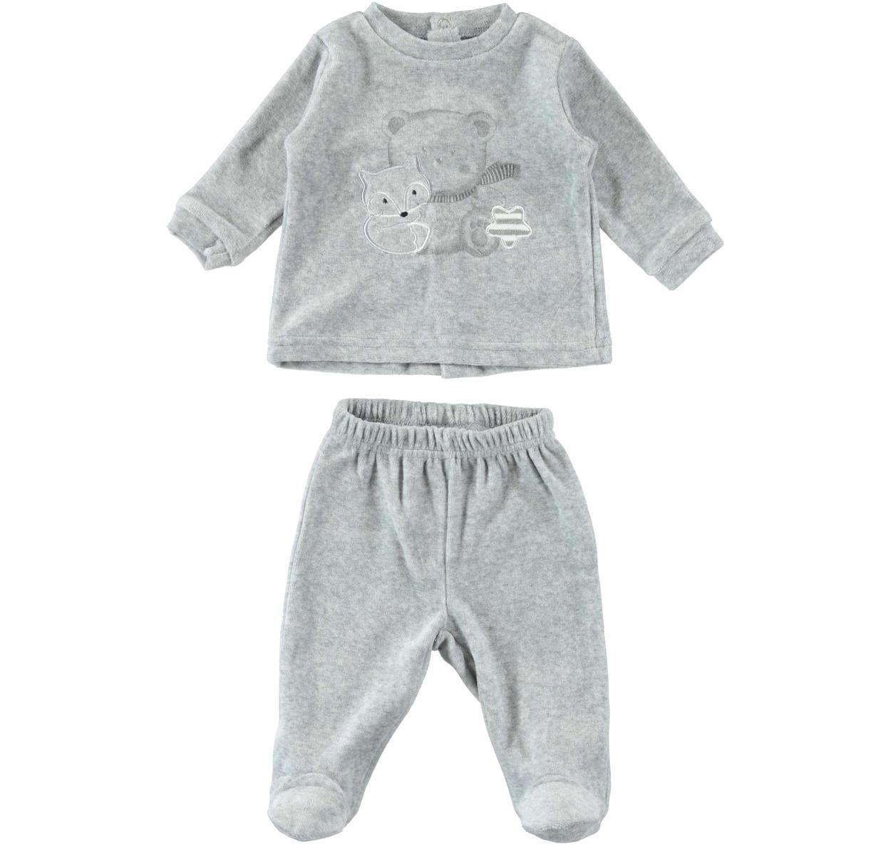 nuova alta qualità meticolosi processi di tintura vari stili Tutina neonato due pezzi modello unisex in ciniglia per neonati da 0 a 18  mesi iDO