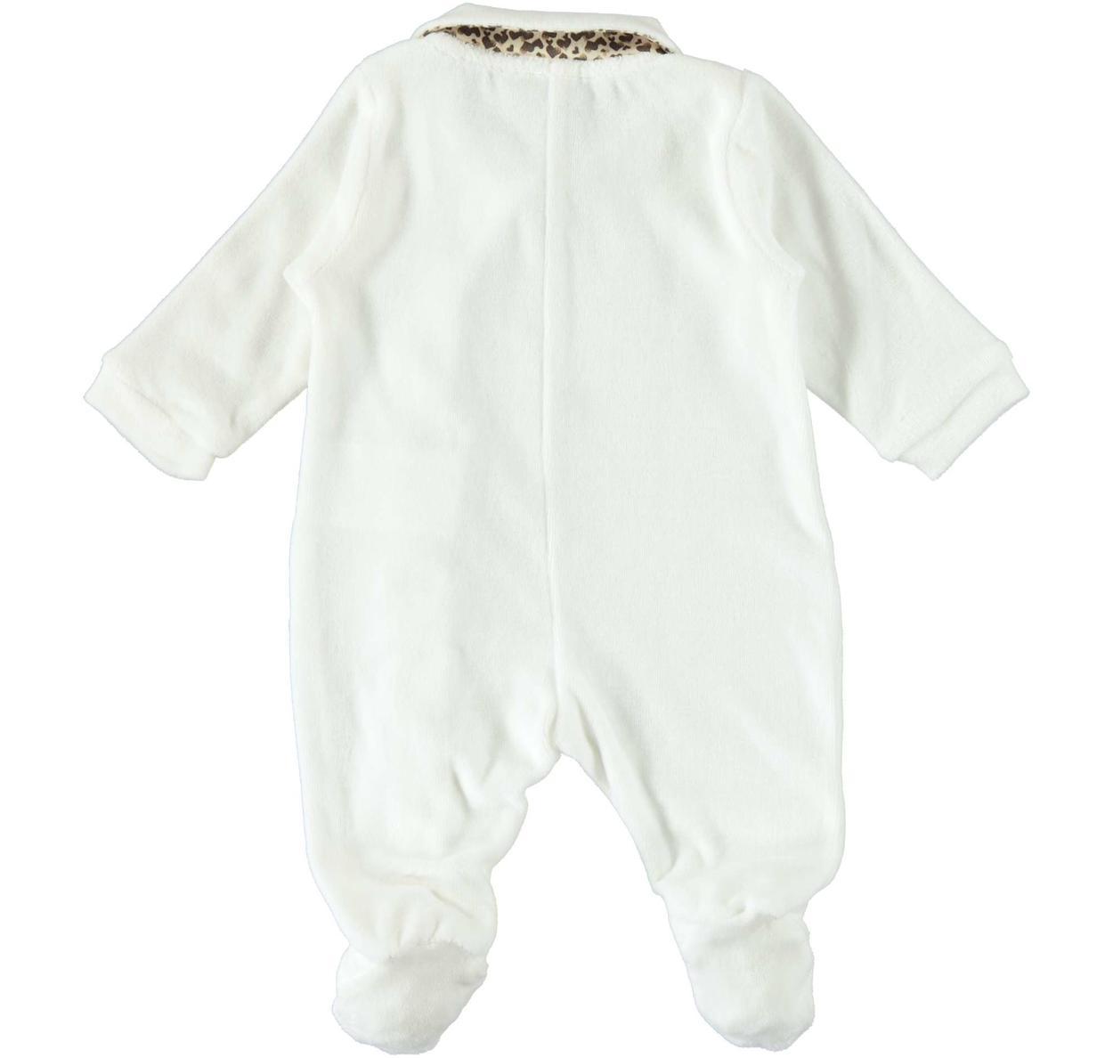 Tutina intera in ciniglia di cotone per neonata da 0 a 18 mesi iDO ...