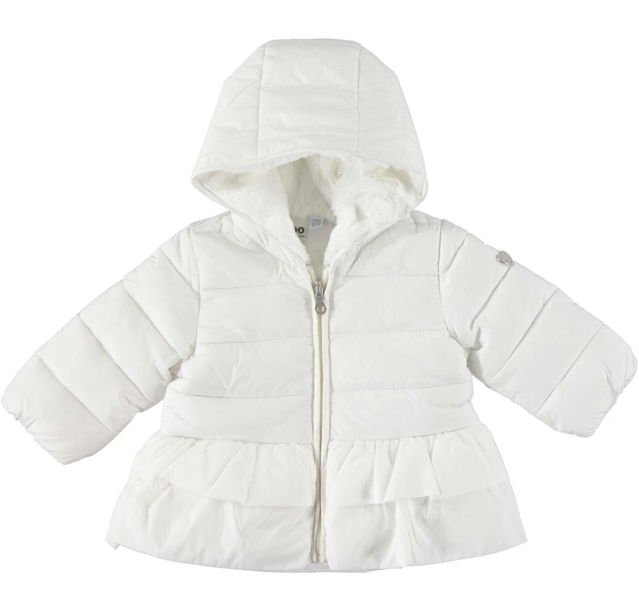 new concept 3bee7 efa6c Piumino invernale trapuntato in caldo nylon per neonata da 0 a 18 mesi iDO