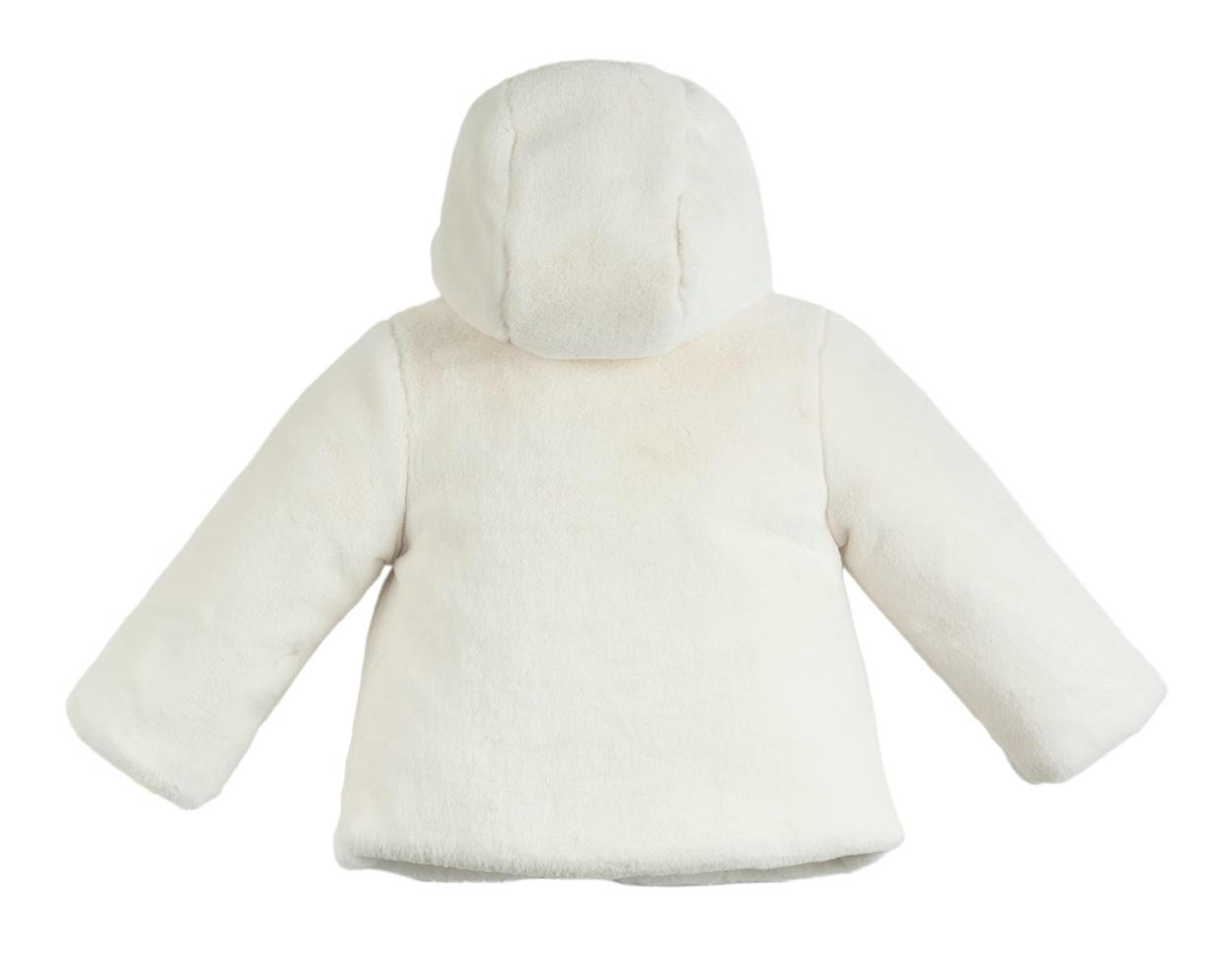 online store 10813 733b9 Morbido pellicciotto ecologico foderato per bambina da 6 a 36 mesi iDO