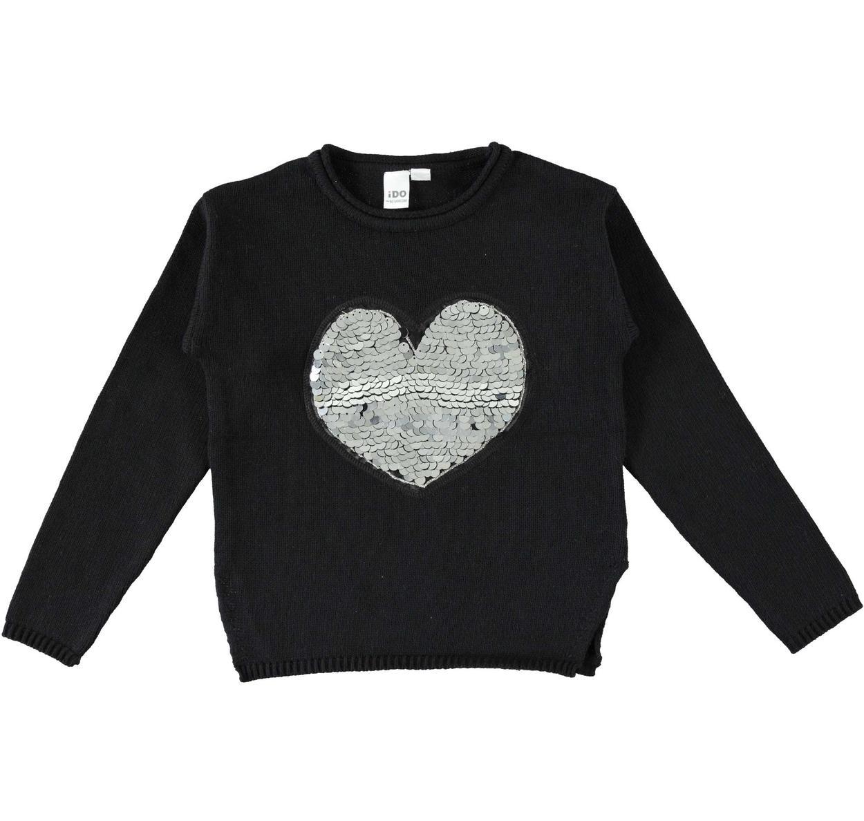 in vendita 1a80a 49f23 Maglia a manica lunga in tricot misto cotone e lana per bambina da 3 a 16  anni iDO