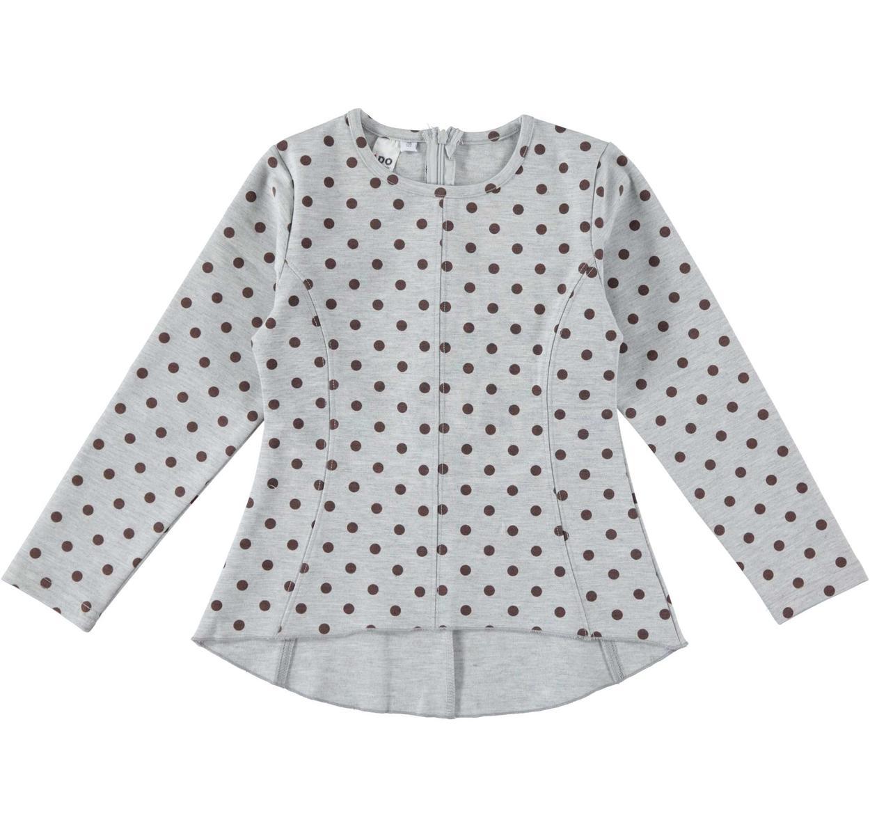 Maglietta bambina a manica lunga in punto milano vestibilità da 3 a 16 anni  iDO 0d5b84cf1fd