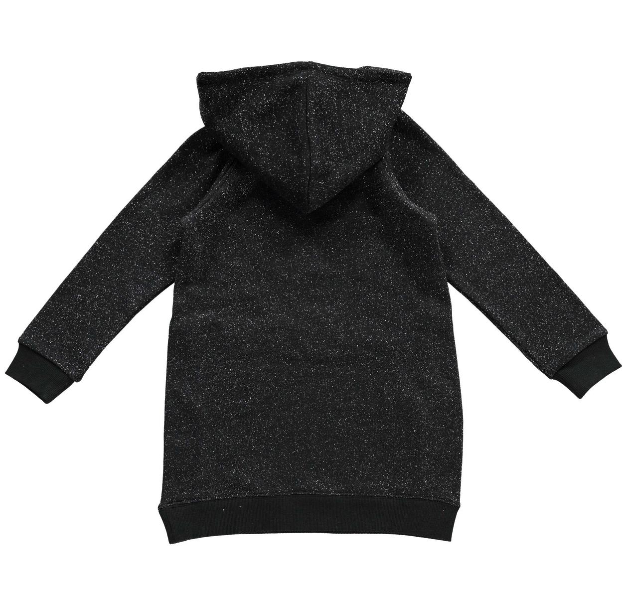 Mini abito in felpa lurex pesante per bambina da 3 a 16 anni iDO