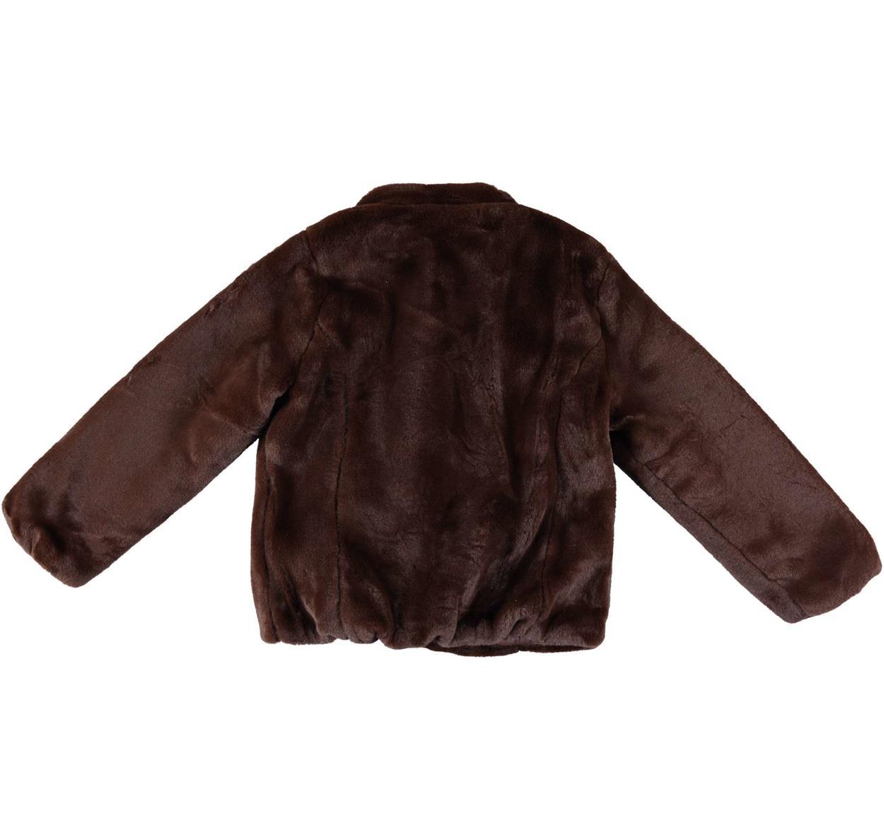 low priced 741d9 ff65f Pellicciotto reversibile in morbida pelliccia ecologica per bambina da 3 a  16 anni iDO