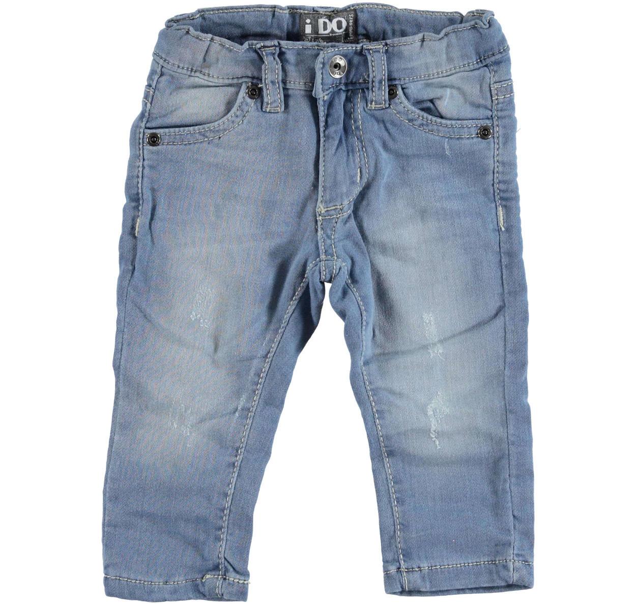 73c04615c7adfa Pantalone slim fit in felpa effetto denim per bambino da 6 mesi a 7 anni iDO