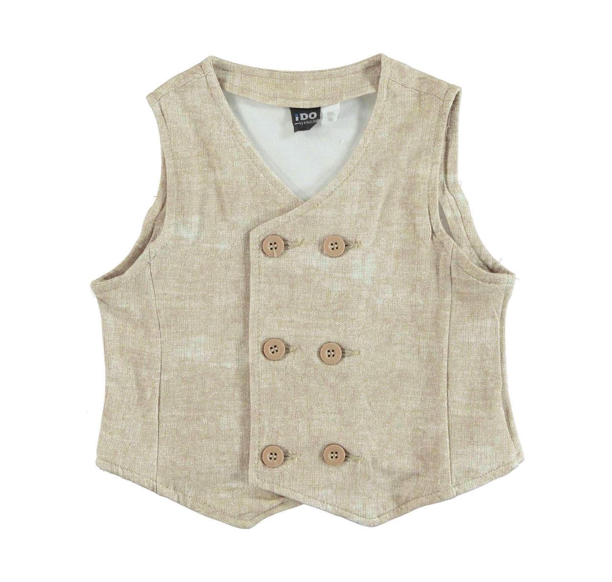 5dac48c59ae2e6 Gilet doppiopetto in felpa stretch stampa melange per bambino da 6 mesi a 7  anni iDO
