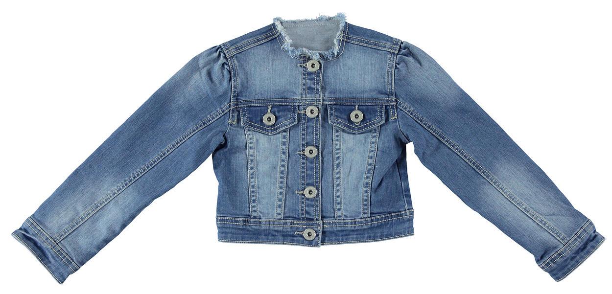online store 8282c 55bb3 Giubbotto corto in denim con glitter per bambina da 6 a 16 anni iDO