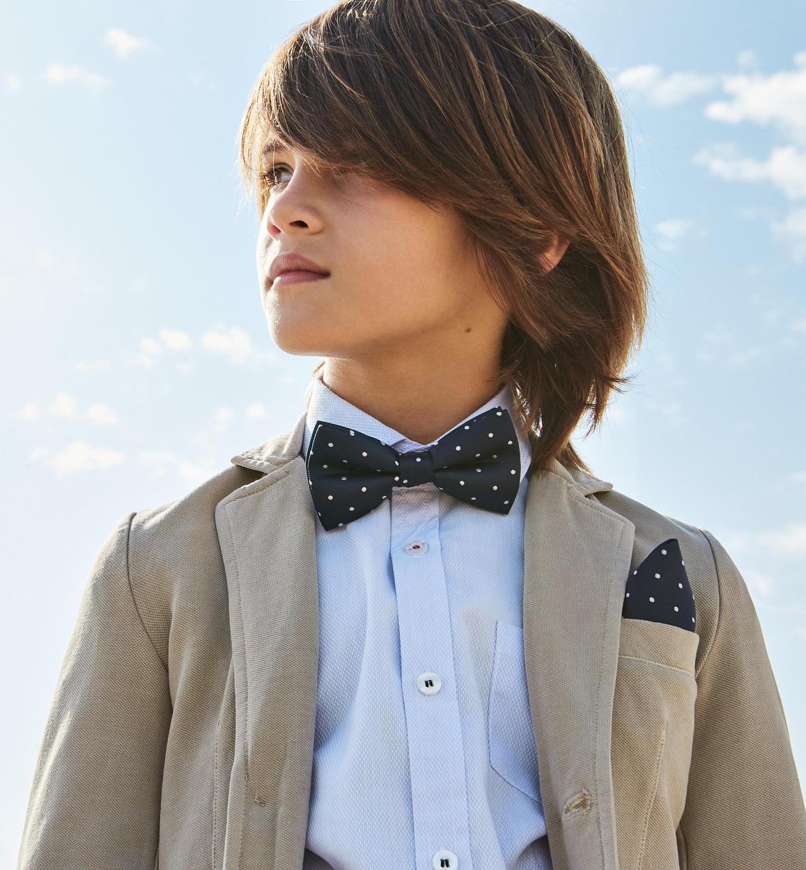 Kit papillon e fazzoletto a pois per bambino da 6 a 16 anni iDO ... ae7f6151d8c5