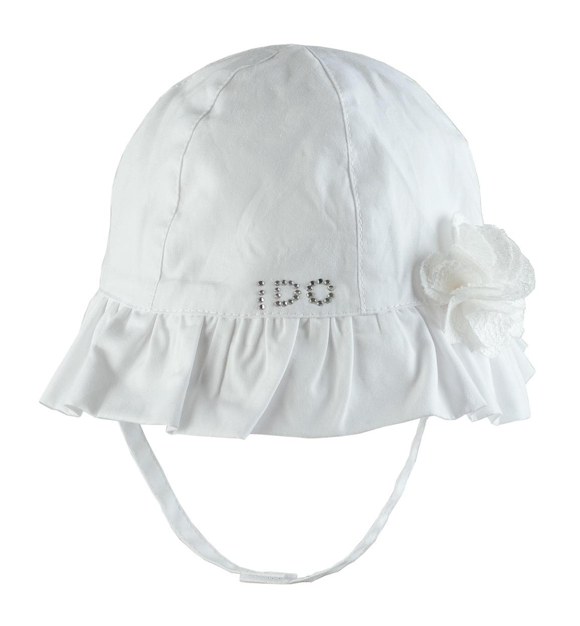 stile moderno acquista l'originale nuovi oggetti Cappellino bimba in popeline 100% cotone vestibilità da 0 a 18 mesi iDO
