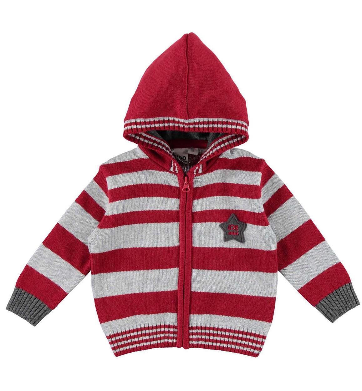 estetica di lusso raccolta di sconti foto ufficiali Maglioncino full zip con cappuccio e motivo a righe per neonato da 0 a 18  mesi iDO