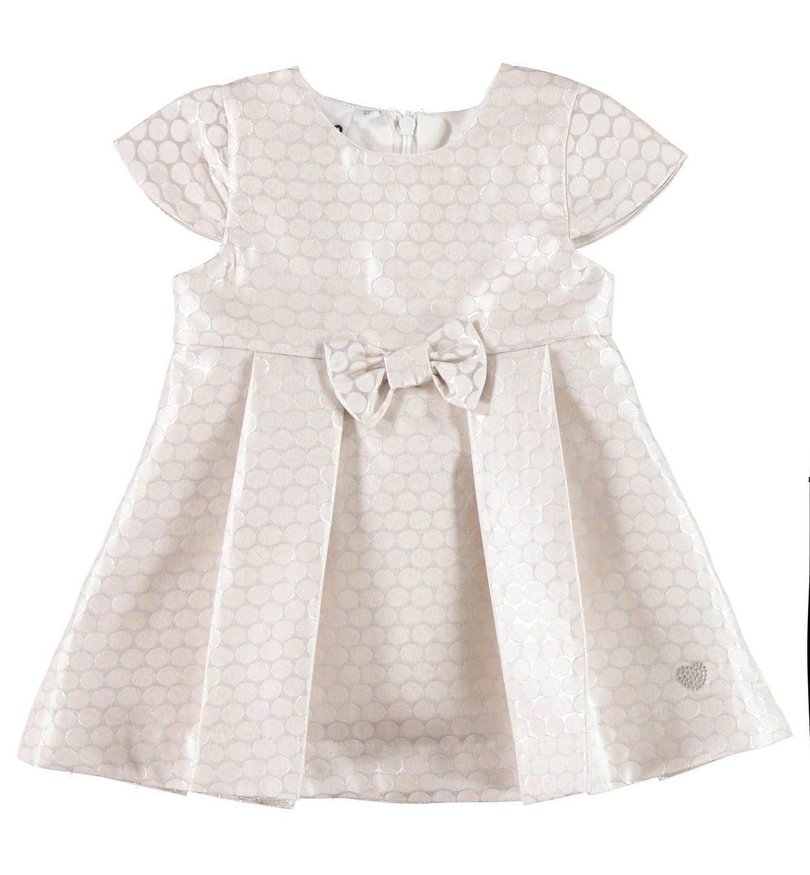 Vestiti Eleganti Neonata.Elegante Vestitino Con Fiocco Per Neonata Da 0 A 18 Mesi Ido