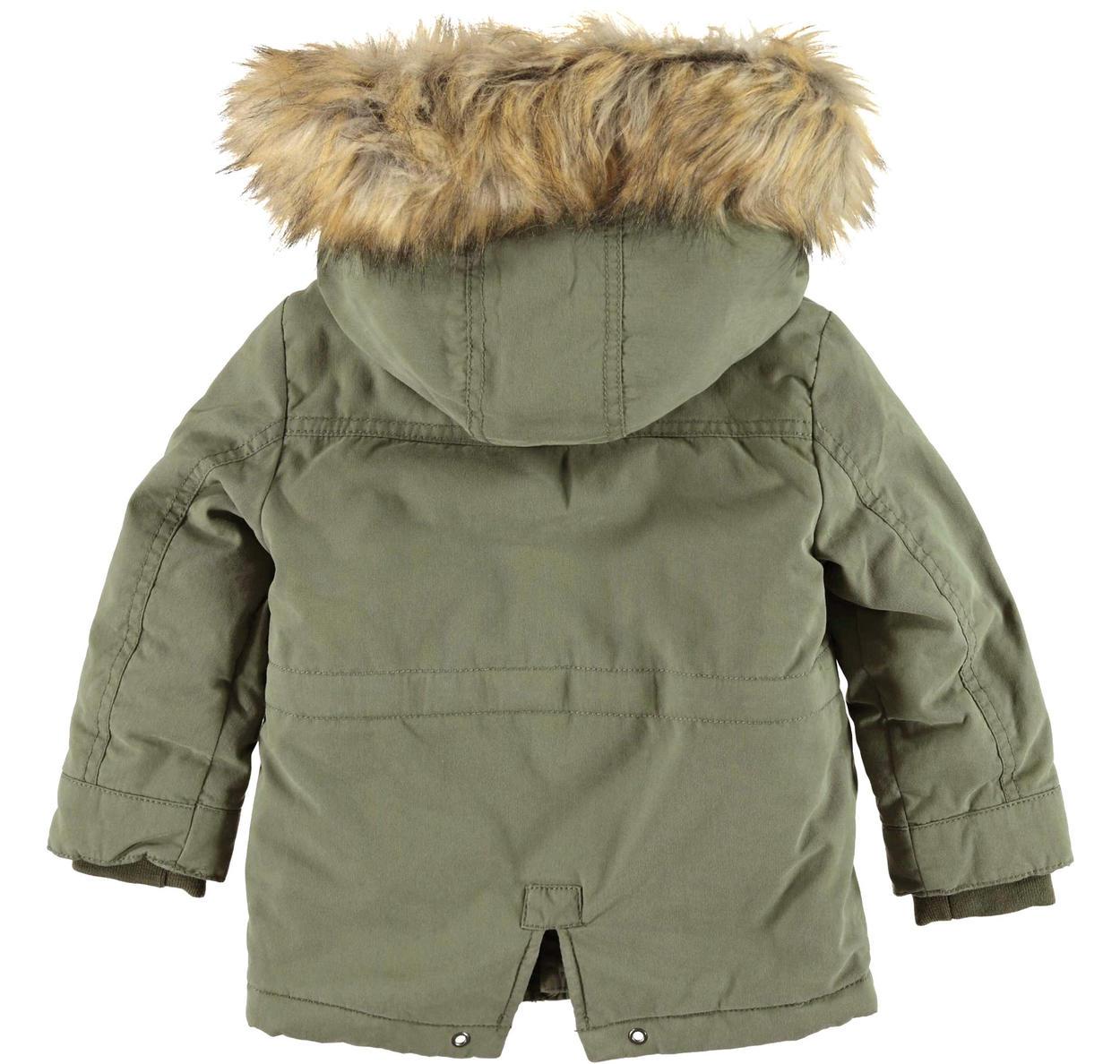 info for 7a0c9 b75dd Giubbotto parka invernale con cappuccio rifinito in eco pelliccia per  bambino da 6 mesi a 7 anni iDO