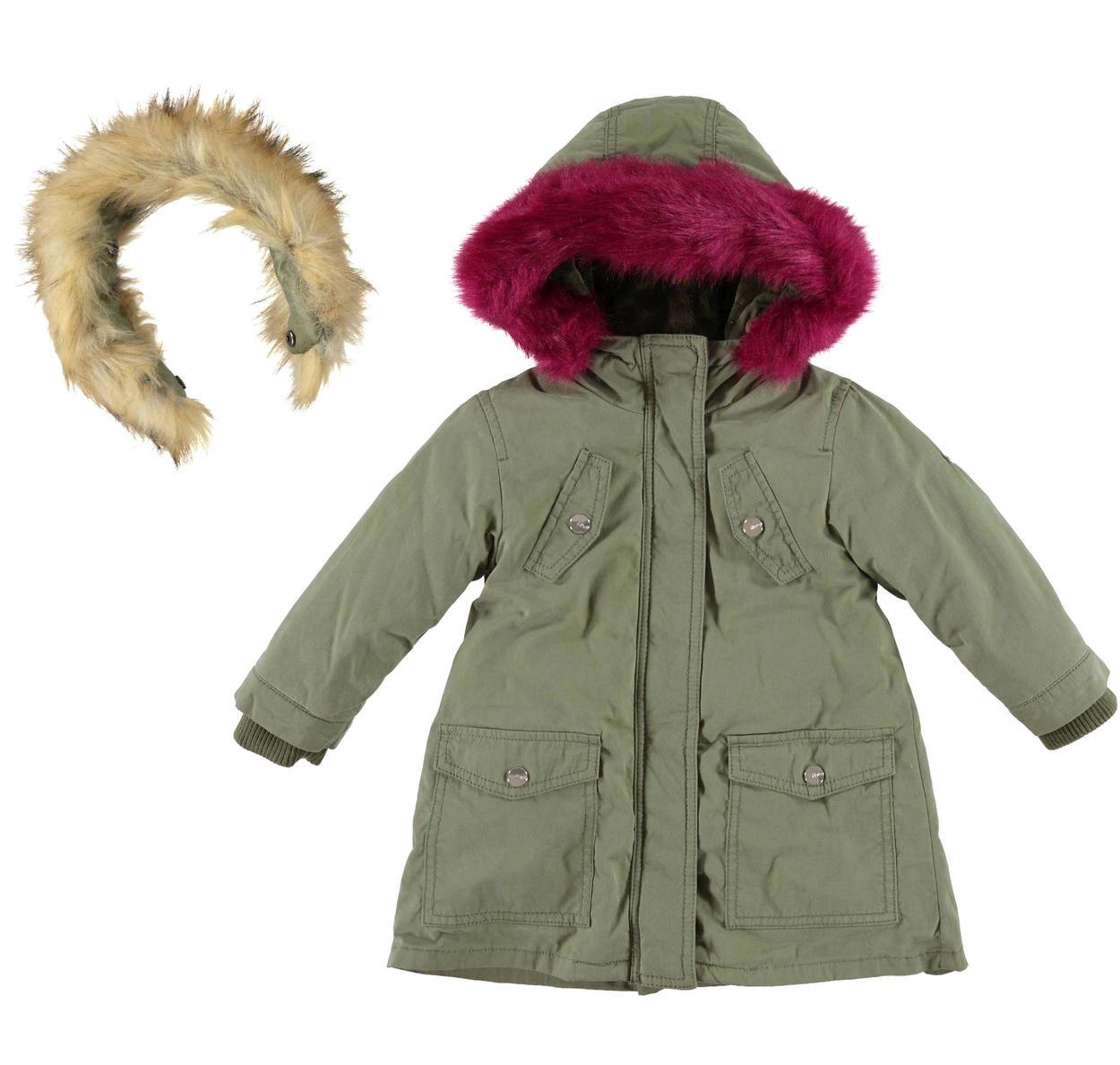 a Forma di Parka Ultra Spesso con Pelliccia Cappotto Invernale per Bambine Nemopter con Cappuccio in Pelliccia